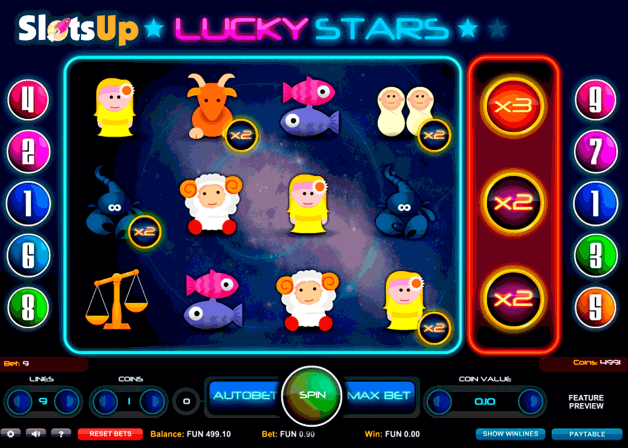 The Lucky Stars (1X2gaming) Online Slot Demo Game by 1x2 Gaming