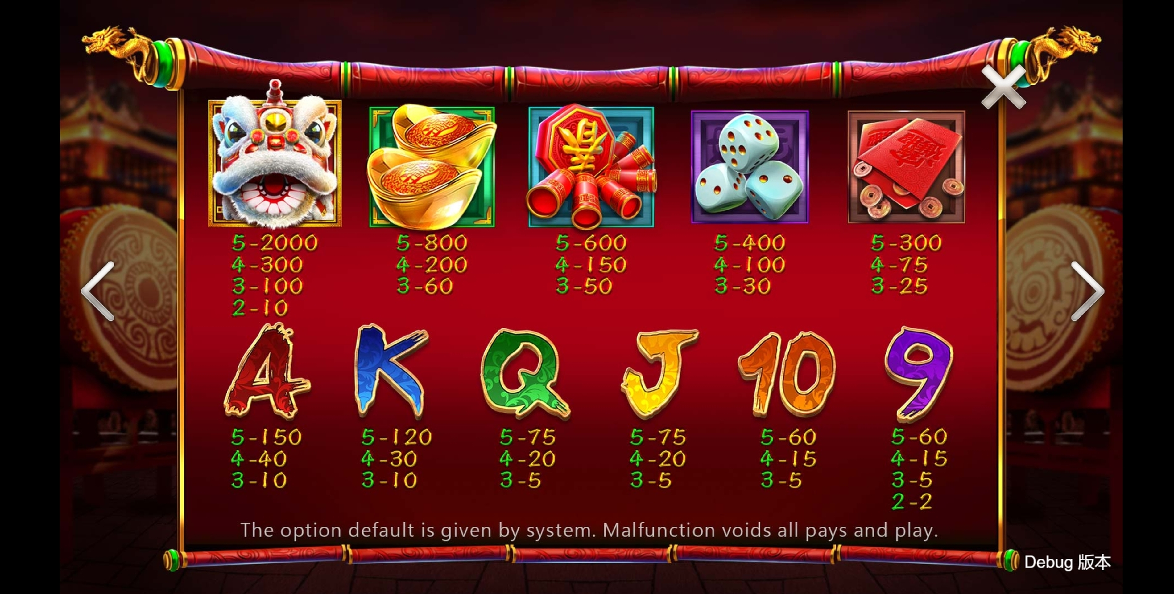 Info of Happy Rich Year Slot Game by CQ9Gaming