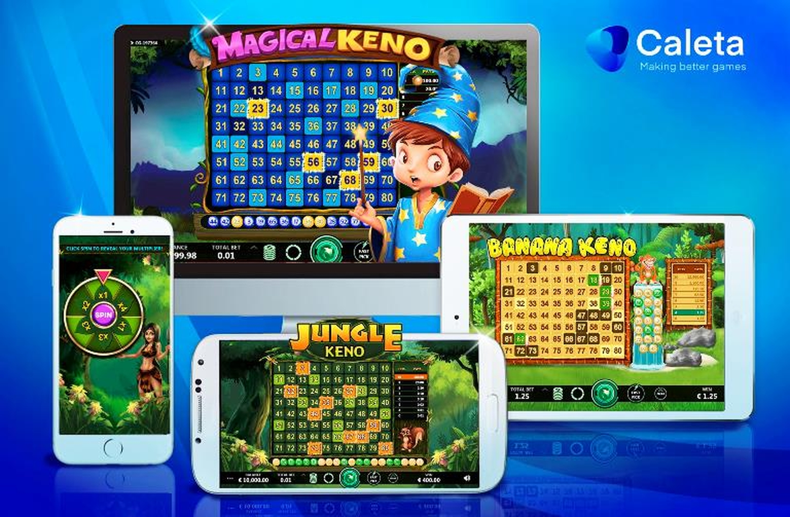 The Jungle Keno Online Slot Demo Game by Caleta Gaming