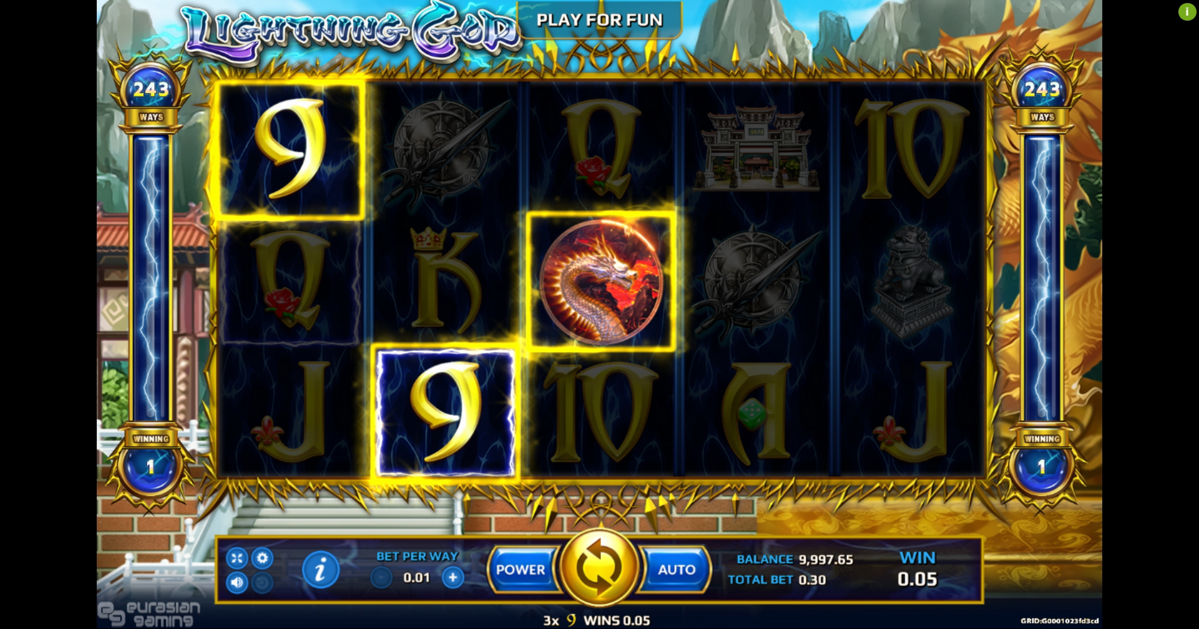 Win Money in Lightning God Free Slot Game by EAgaming