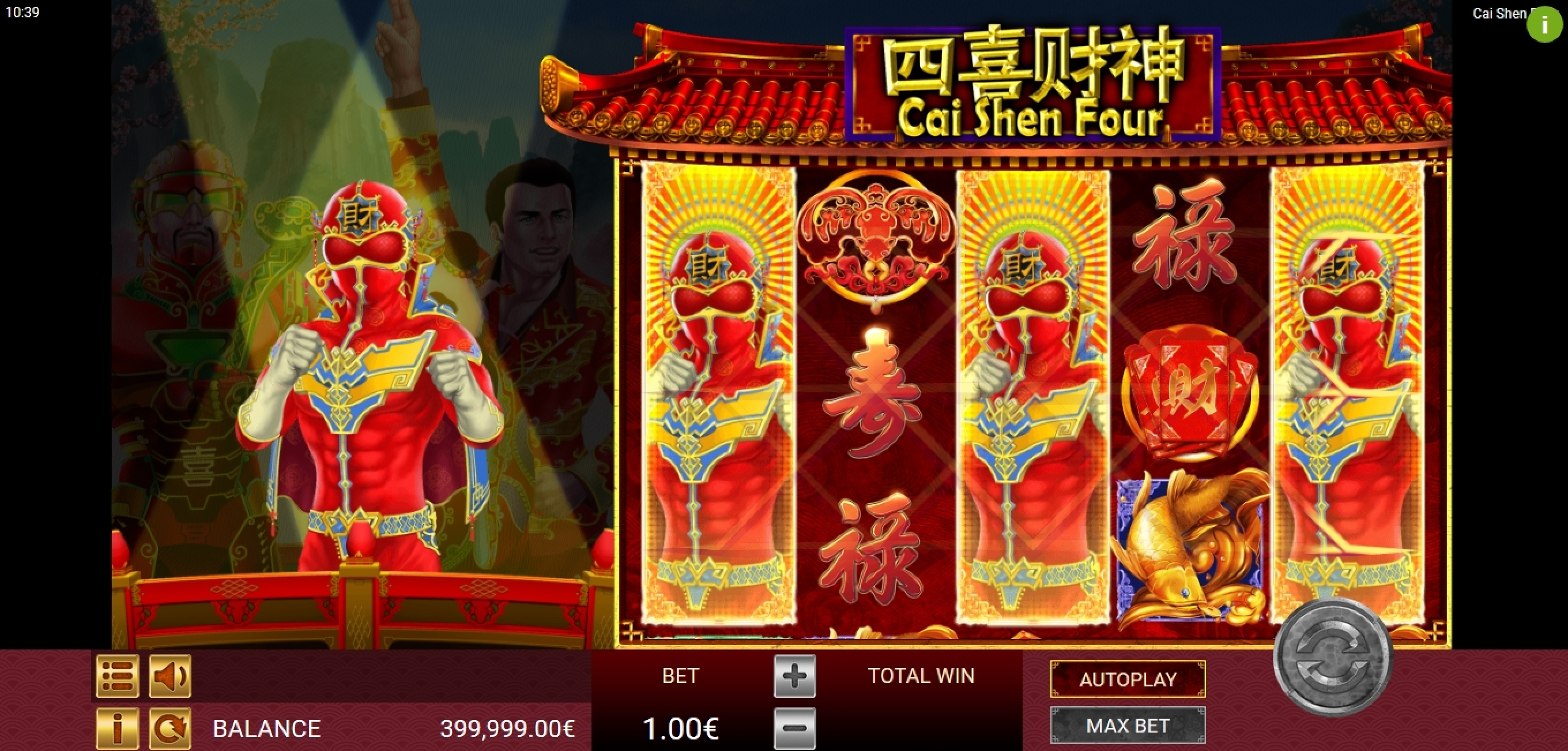 Win Money in Cai Shen Four Free Slot Game by Gamatron