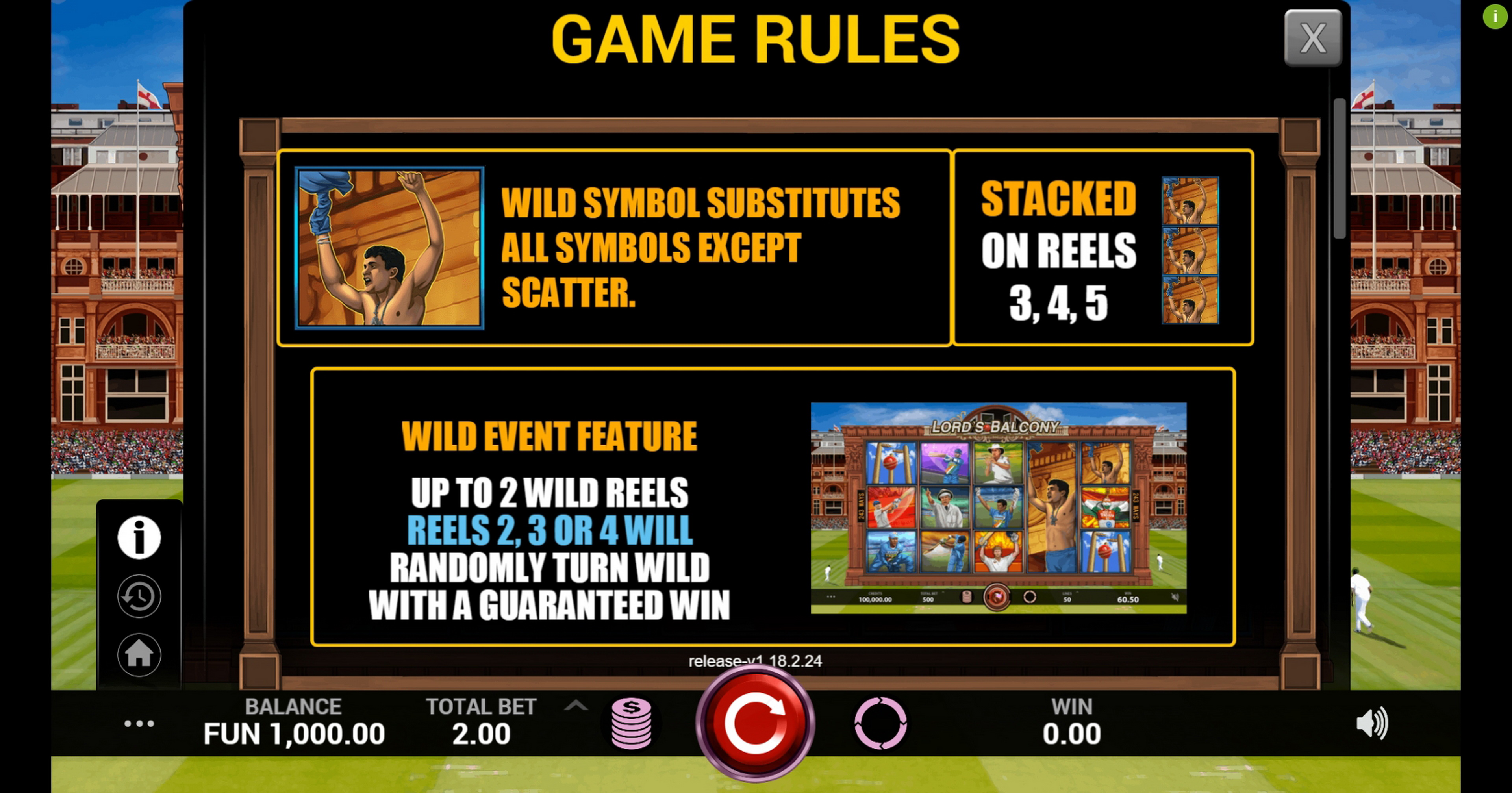 Info of Lords Balcony Slot Game by Indi Slots