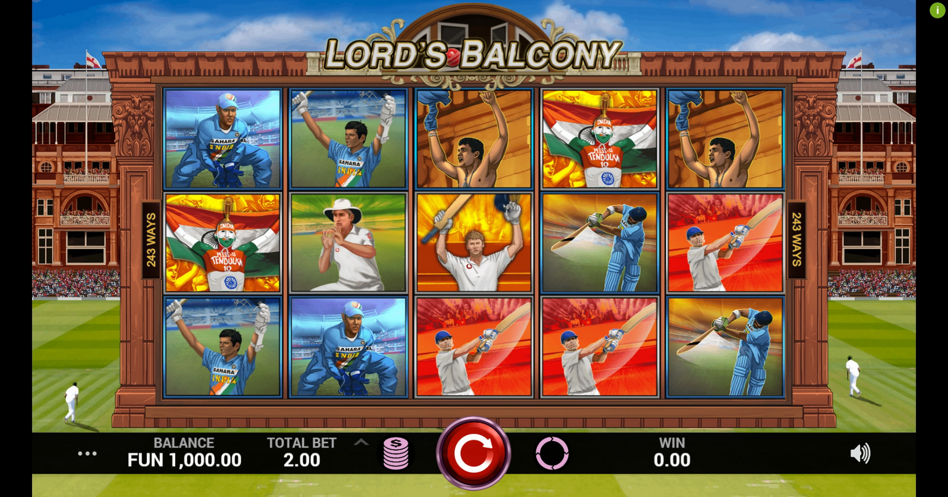 Reels in Lords Balcony Slot Game by Indi Slots