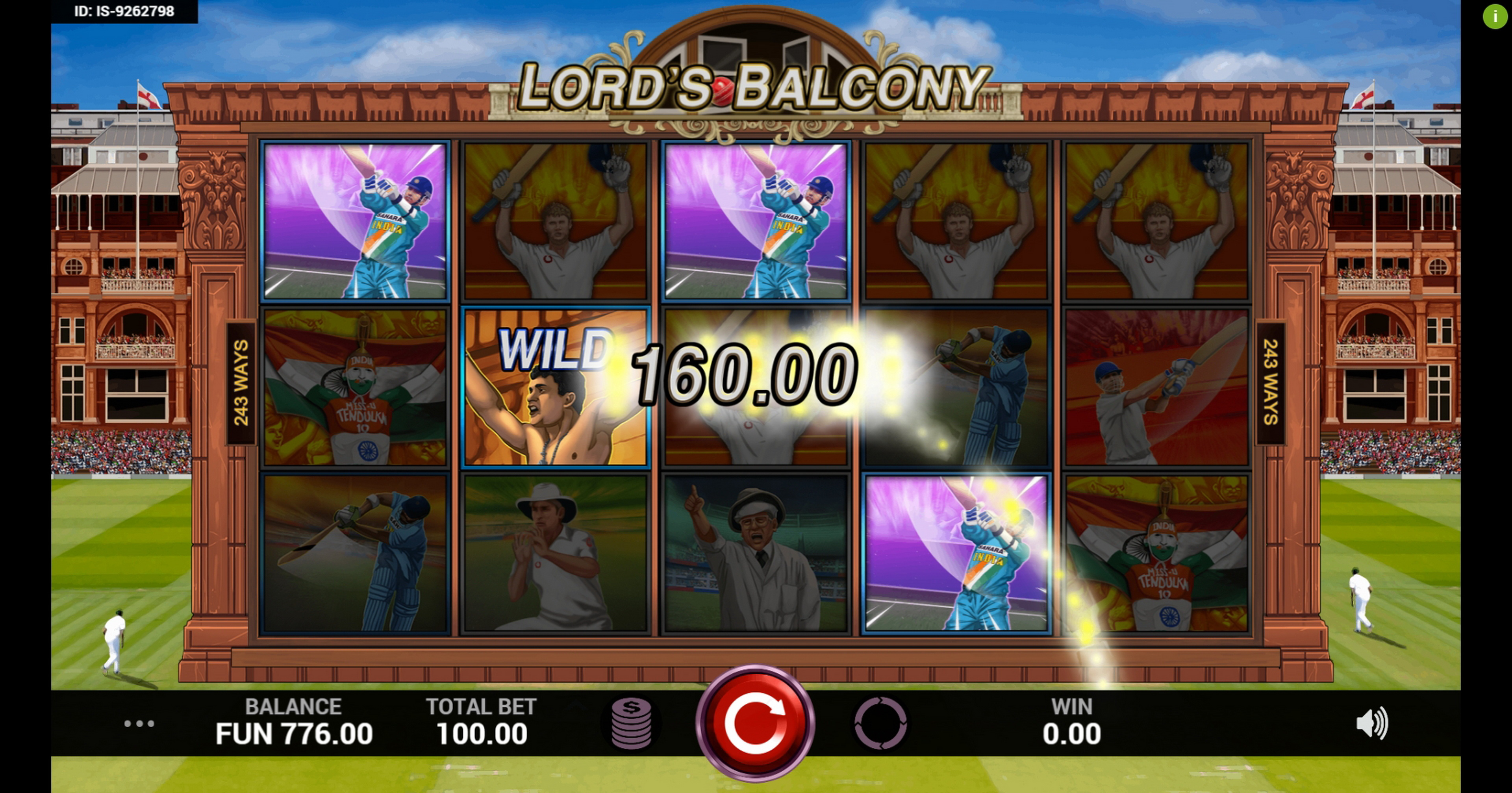 Win Money in Lords Balcony Free Slot Game by Indi Slots
