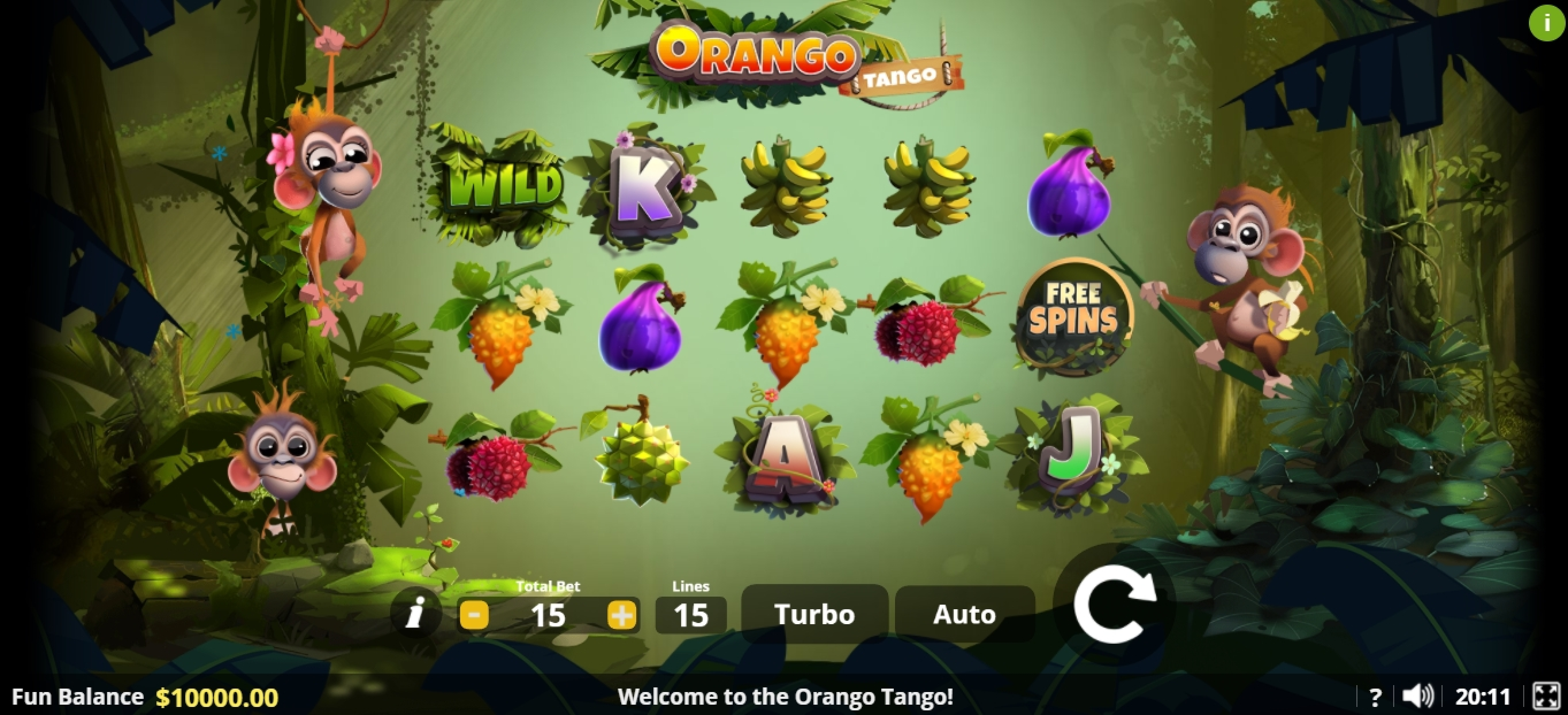 Reels in Orango Tango Slot Game by Lady Luck Games