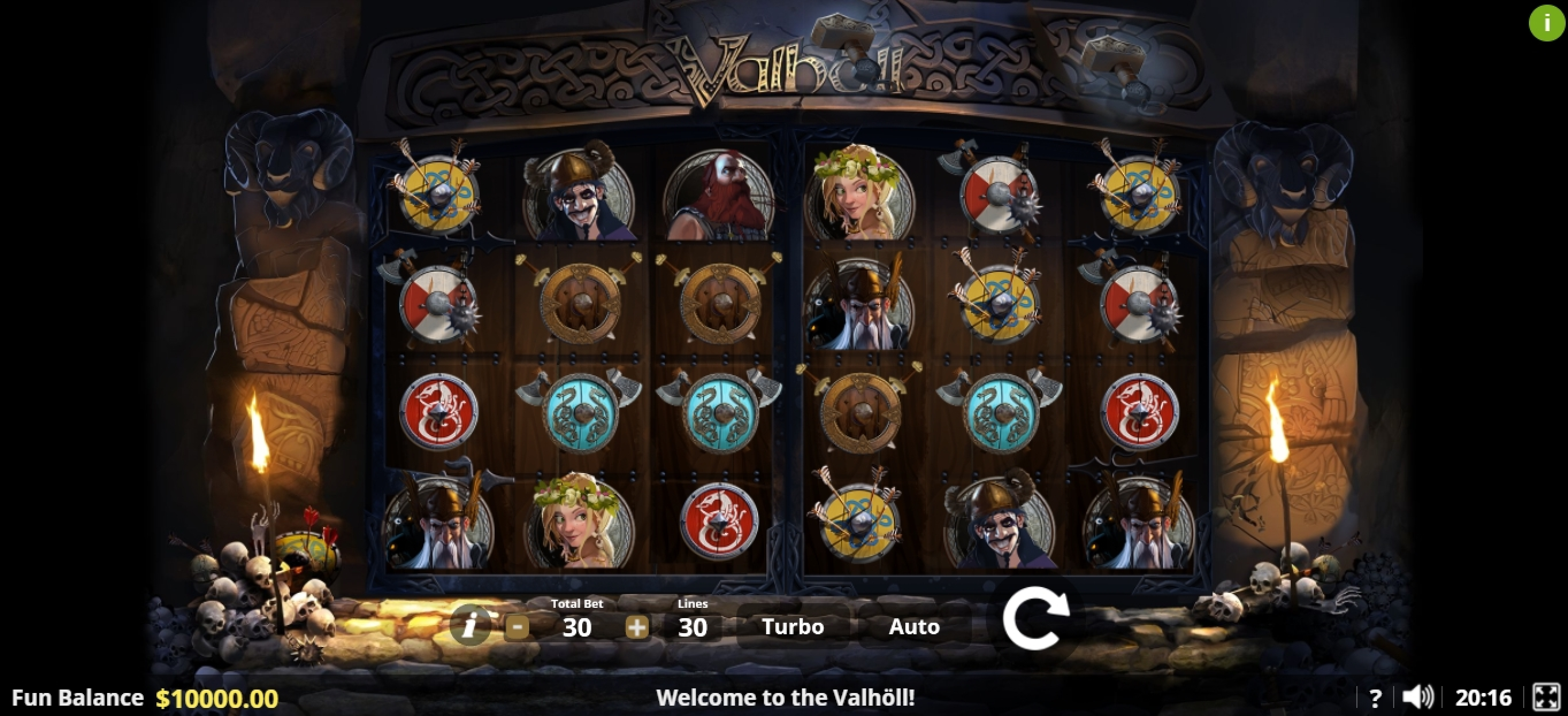 Reels in Valhôll Hall of The Slain Slot Game by Lady Luck Games