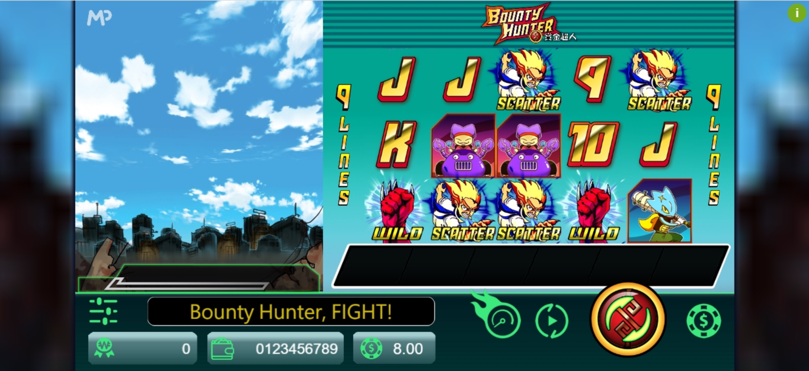 Reels in Bounty Hunter (Manna Play) Slot Game by Manna Play