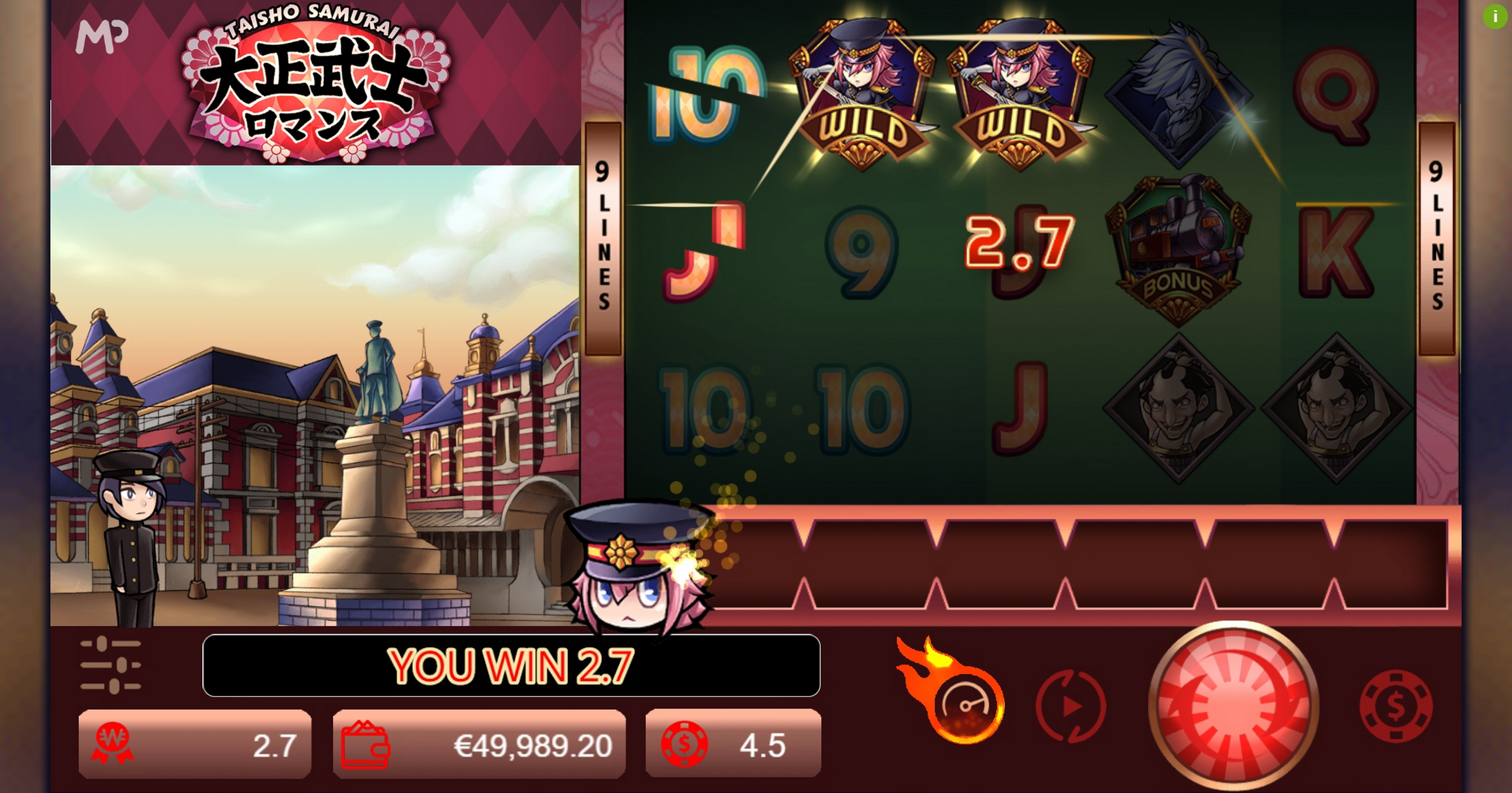Win Money in Taisho Samurai Free Slot Game by Manna Play