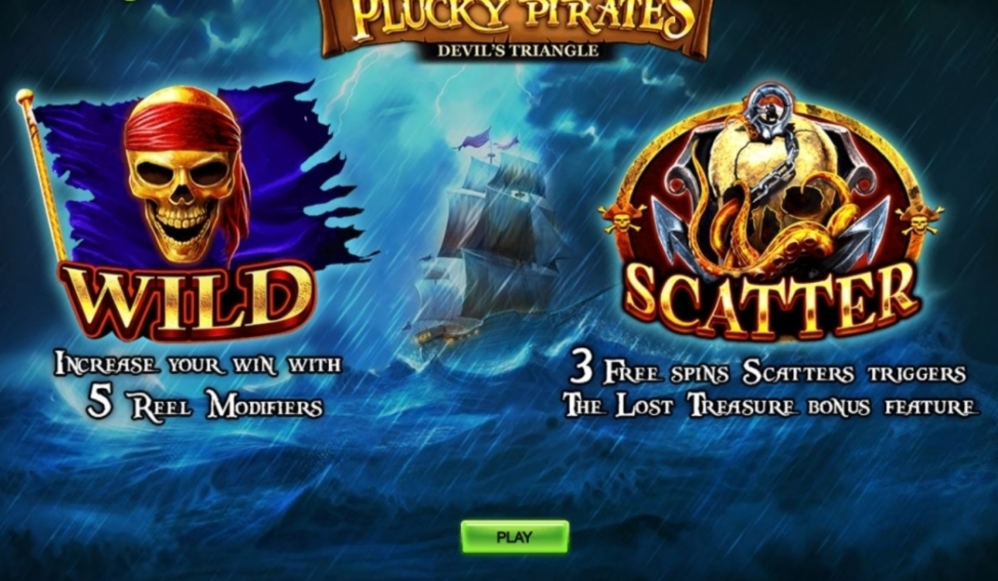 The Plucky Pirates Devil's Triangle Online Slot Demo Game by Rocksalt Interactive