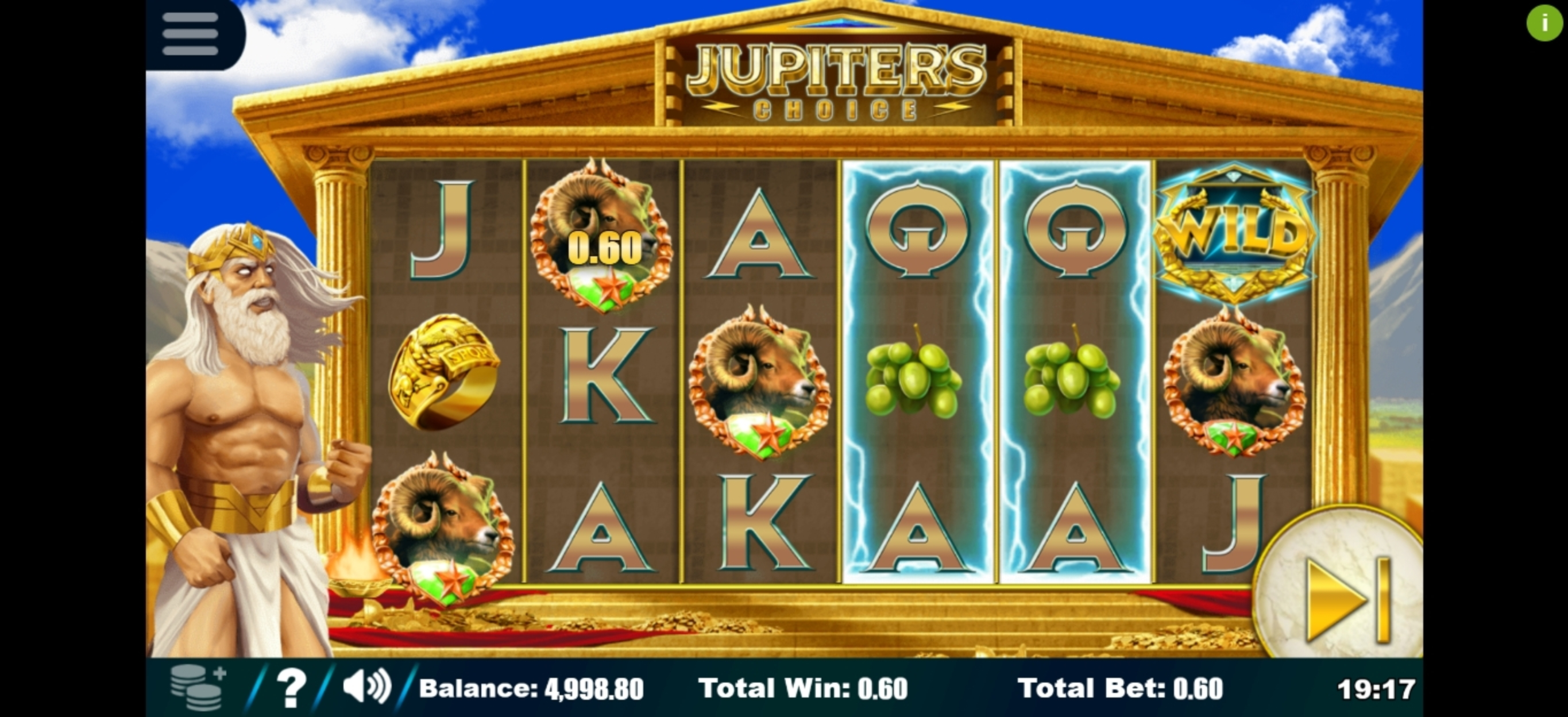 Win Money in Jupiter's Choice Free Slot Game by Sapphire Gaming