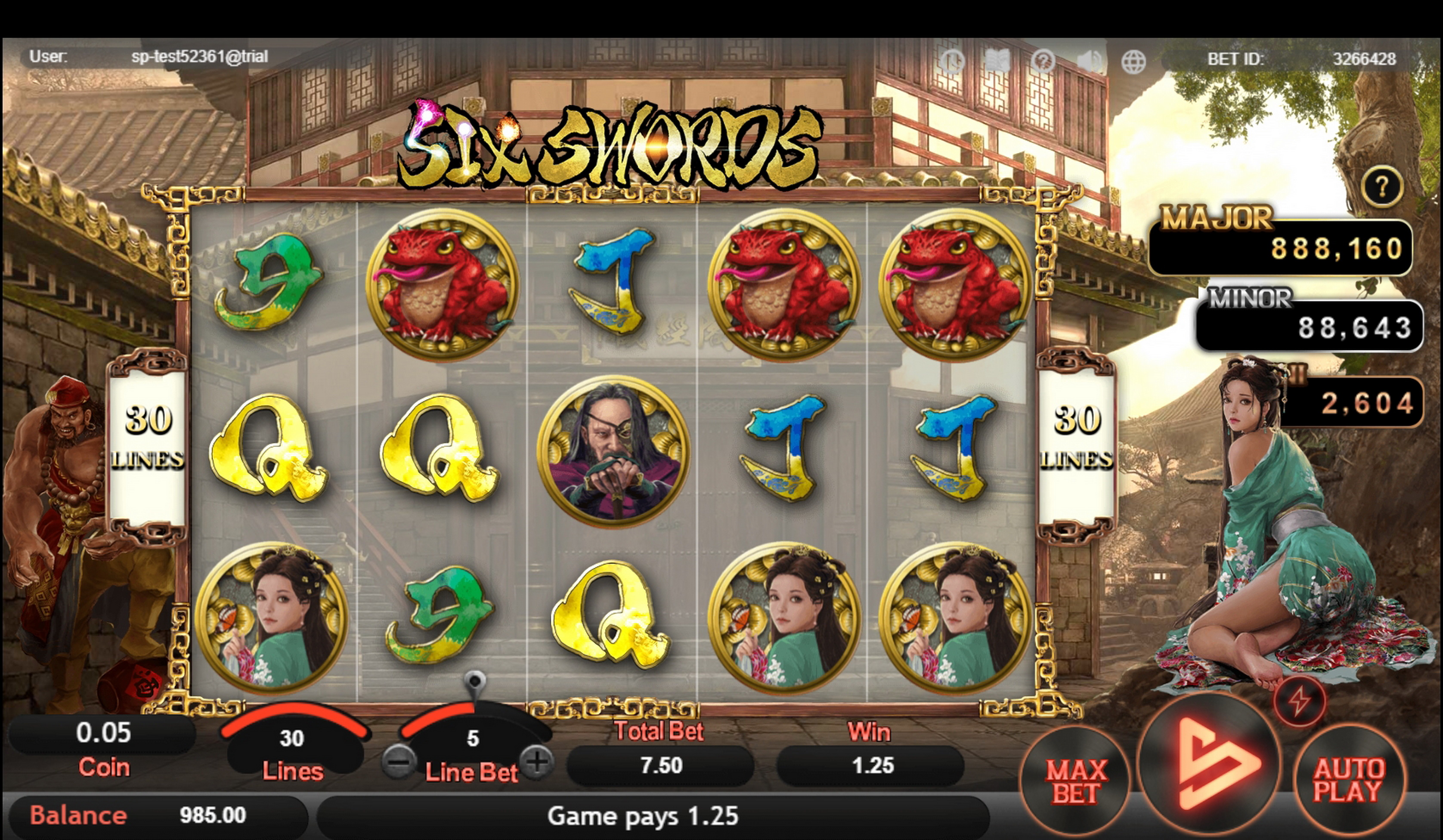 Win Money in Six Swords Free Slot Game by SimplePlay