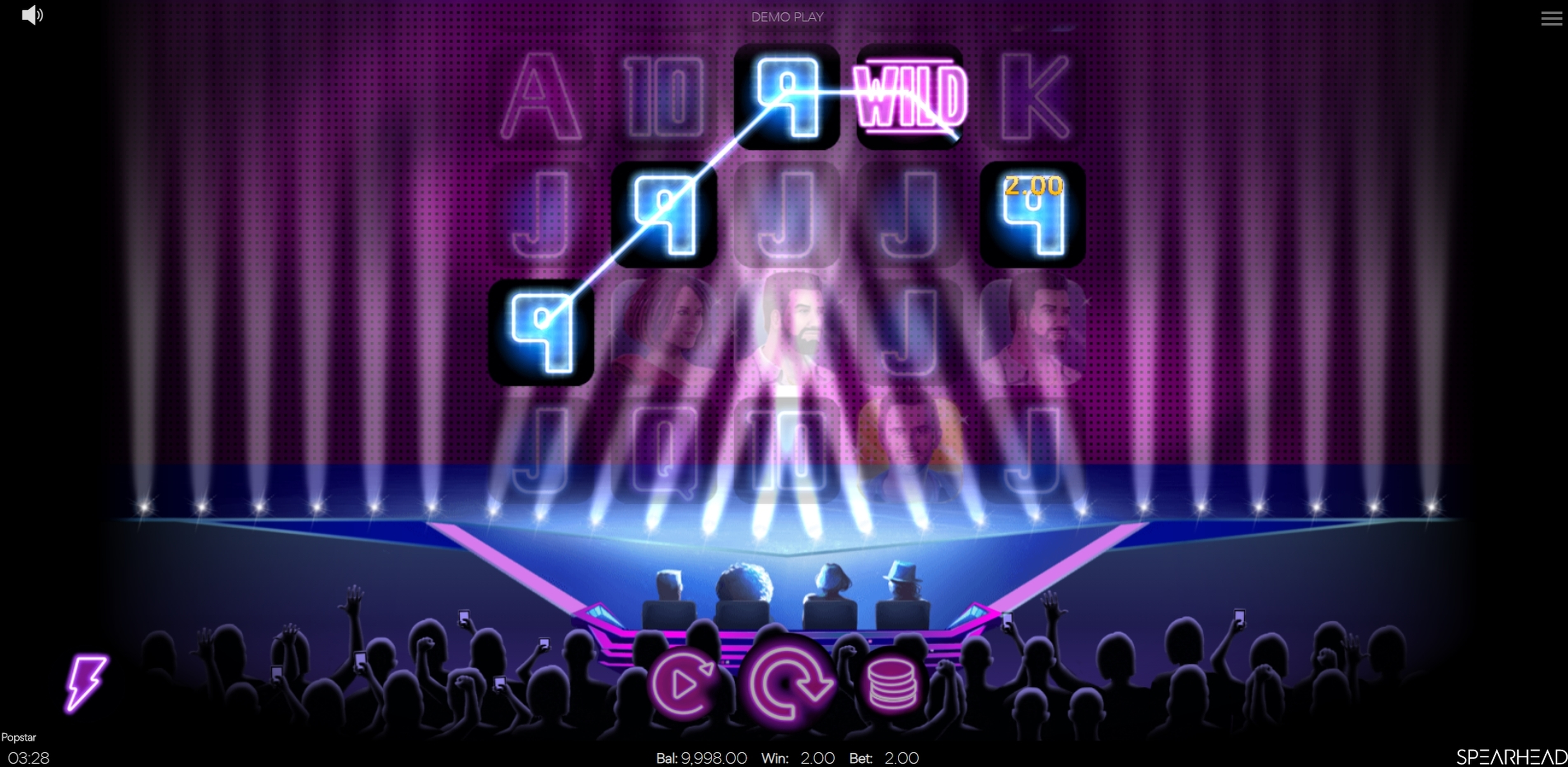 Win Money in Popstar Free Slot Game by Spearhead Studios