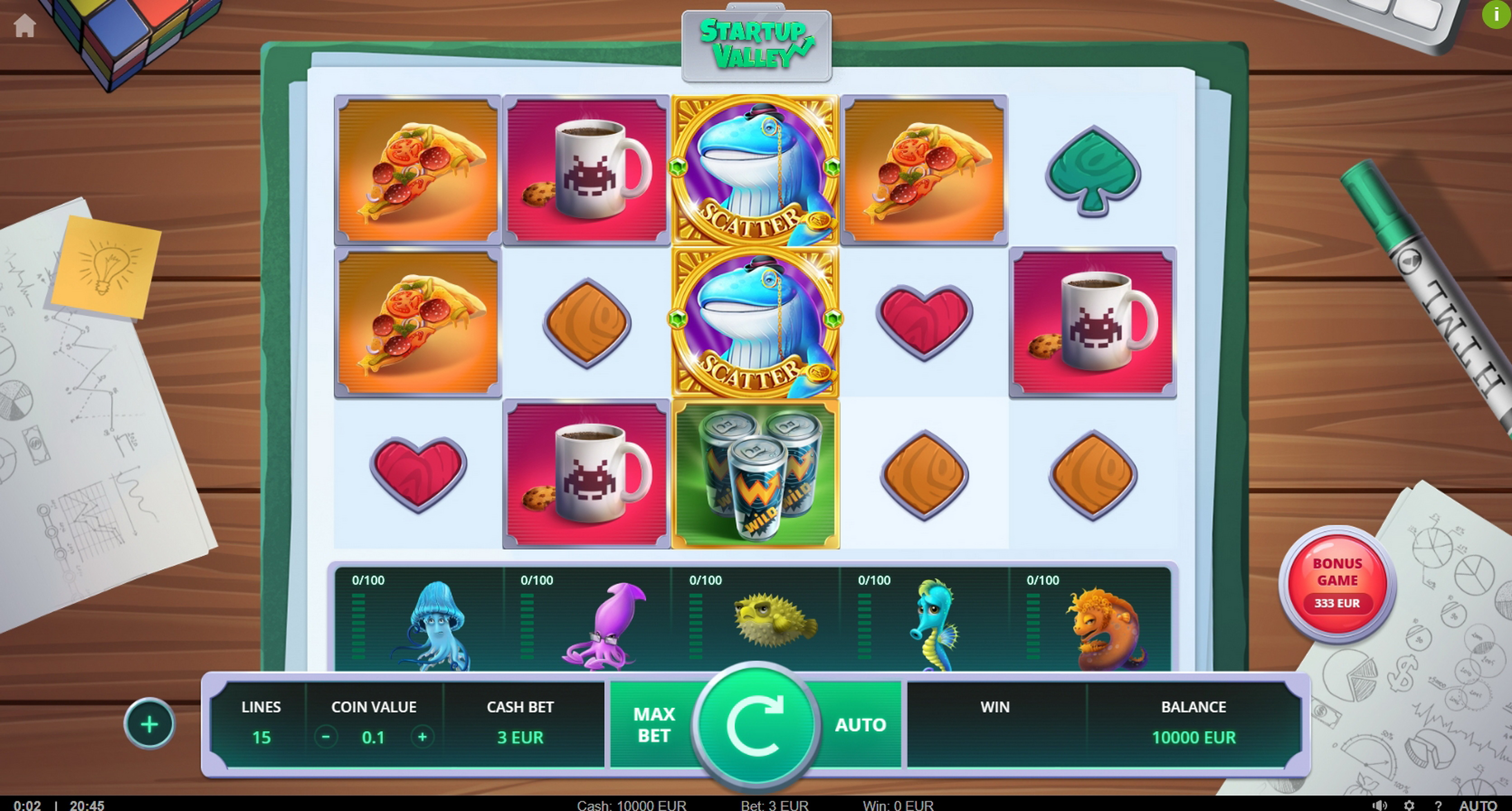 Reels in Startup Valley Slot Game by TrueLab Games