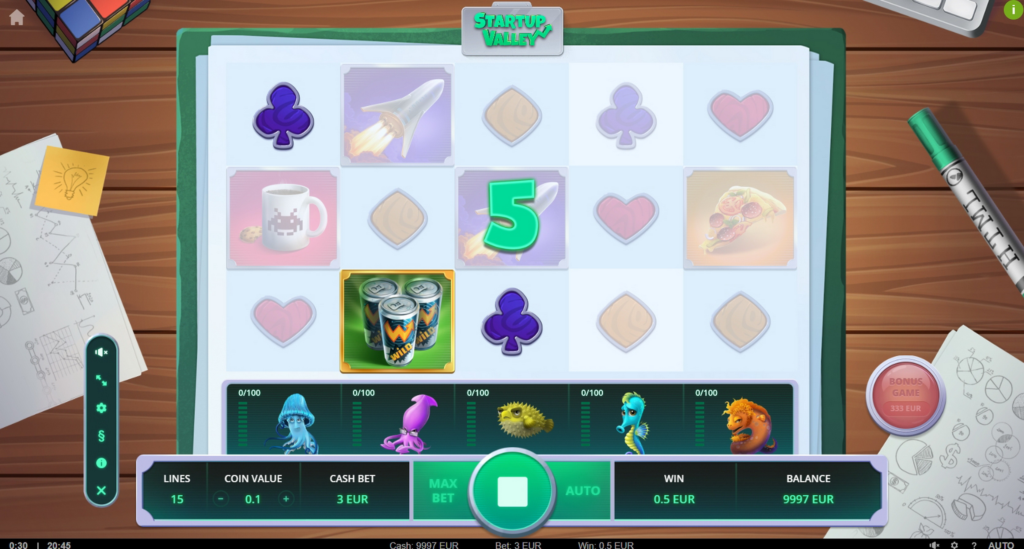 Win Money in Startup Valley Free Slot Game by TrueLab Games