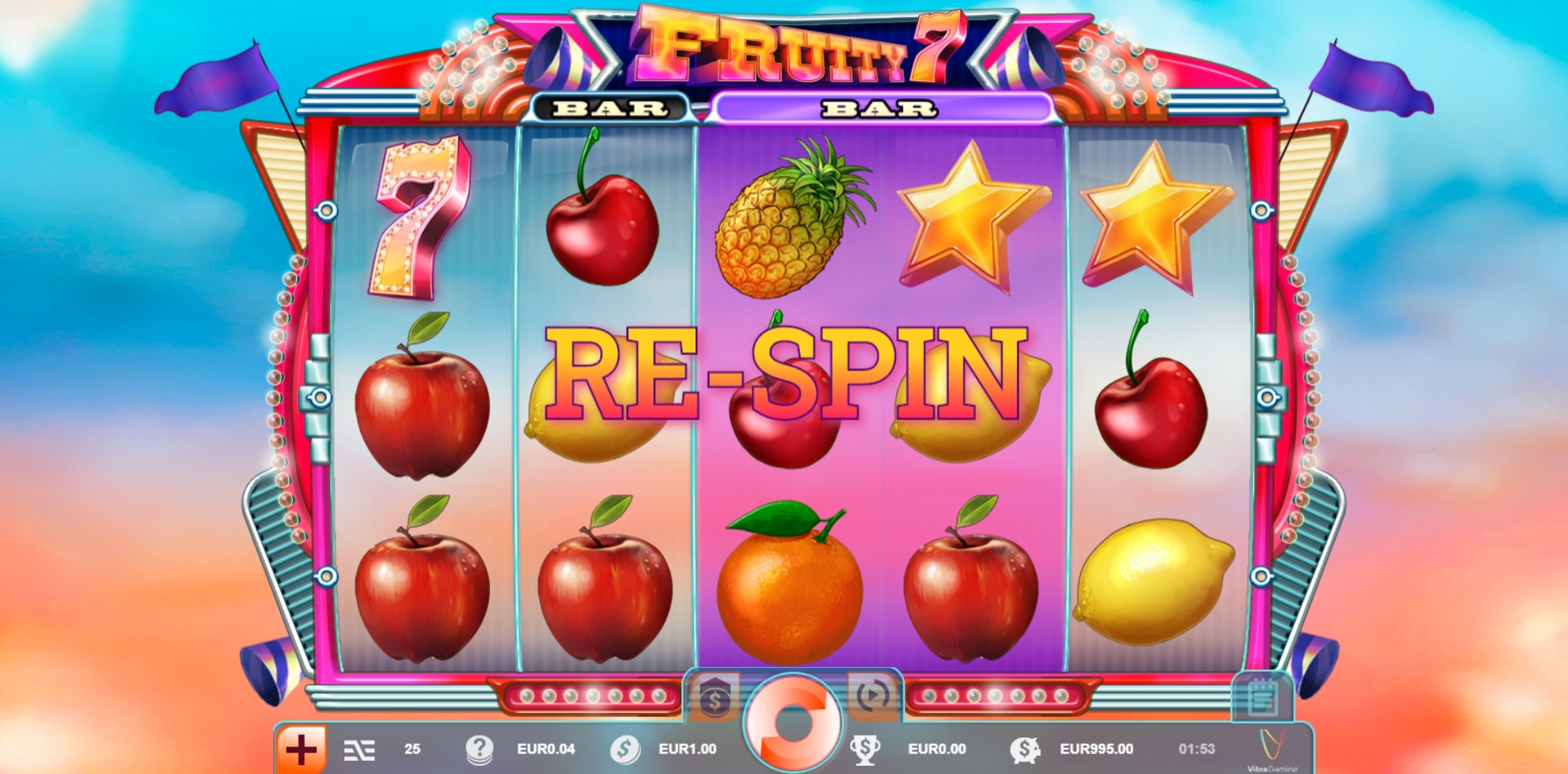 Win Money in Fruity 7 Free Slot Game by Vibra Gaming