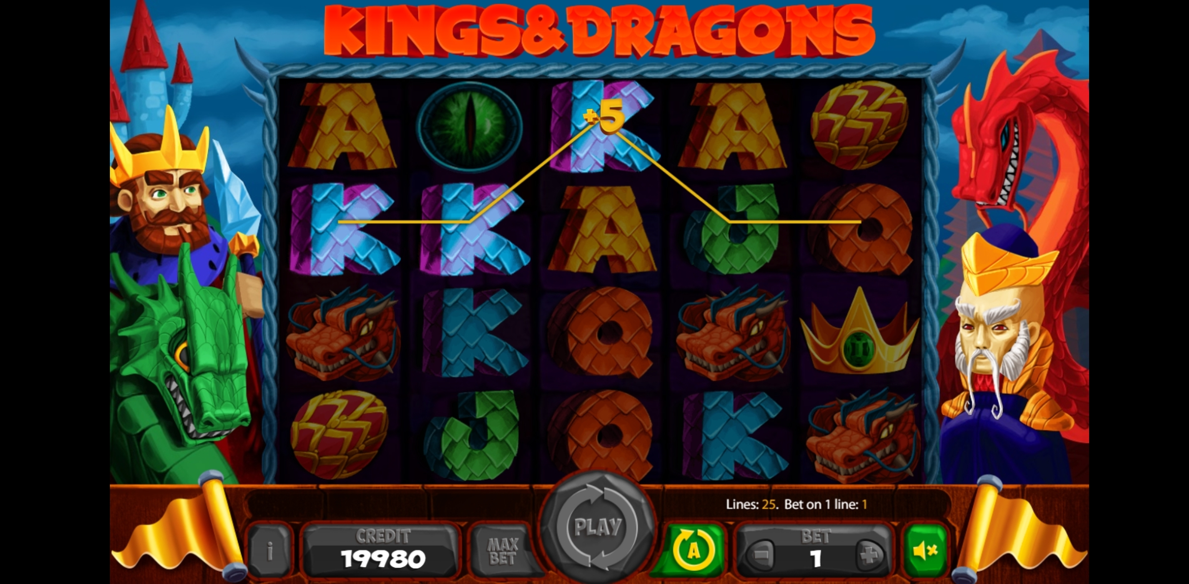 Win Money in Kings And Dragons Free Slot Game by X Card