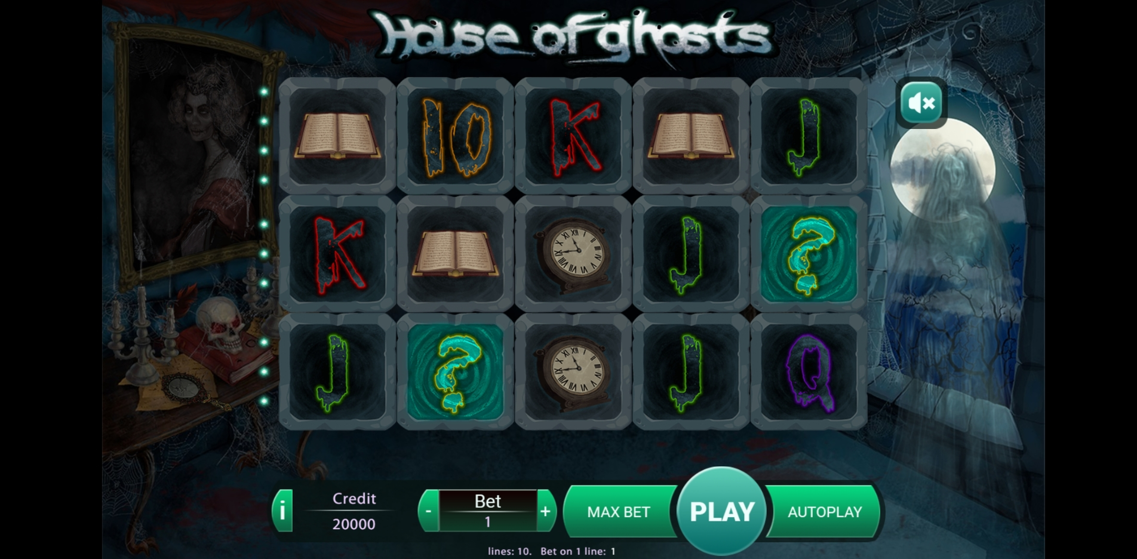 Reels in House Of Ghosts Slot Game by X Play