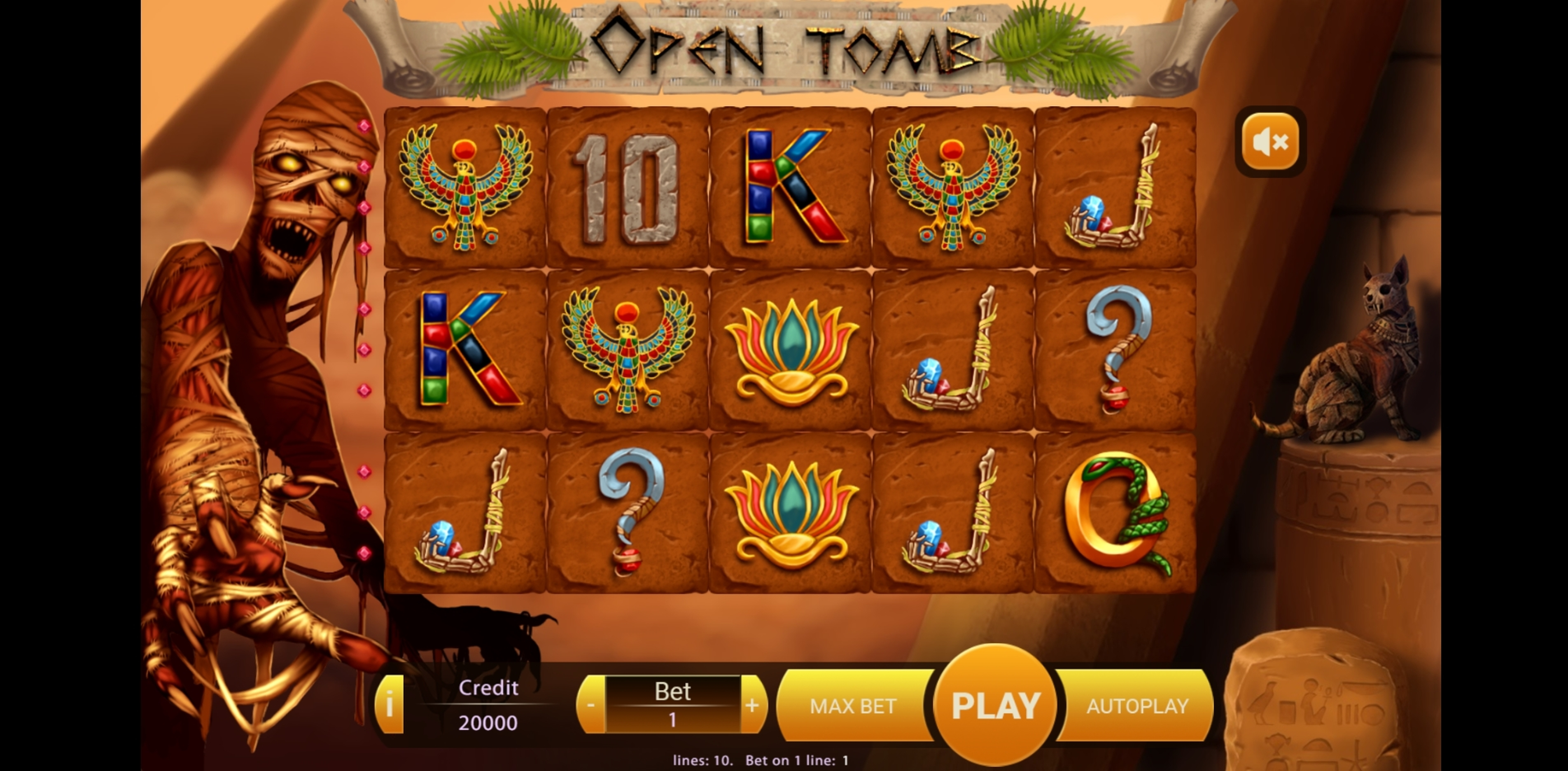 Reels in Open Tomb Slot Game by X Play