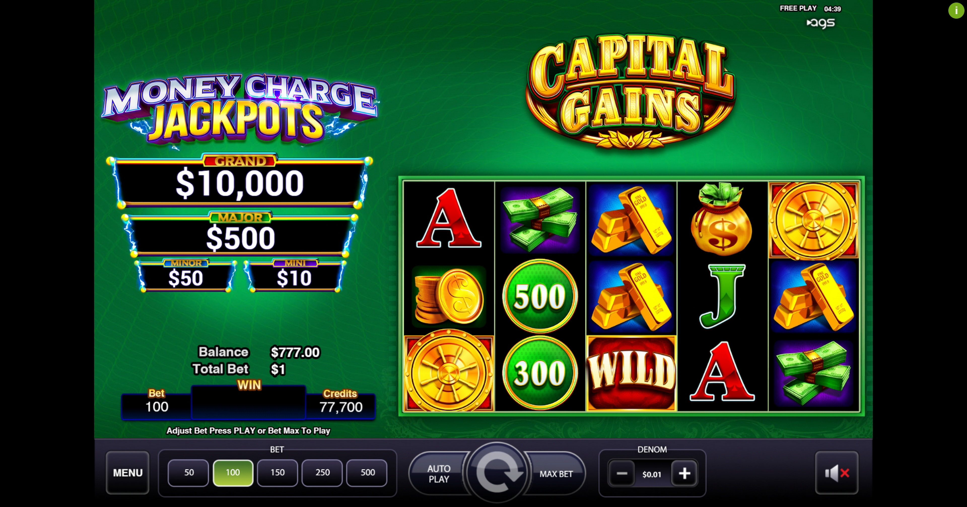Reels in Capital Gains Slot Game by AGS