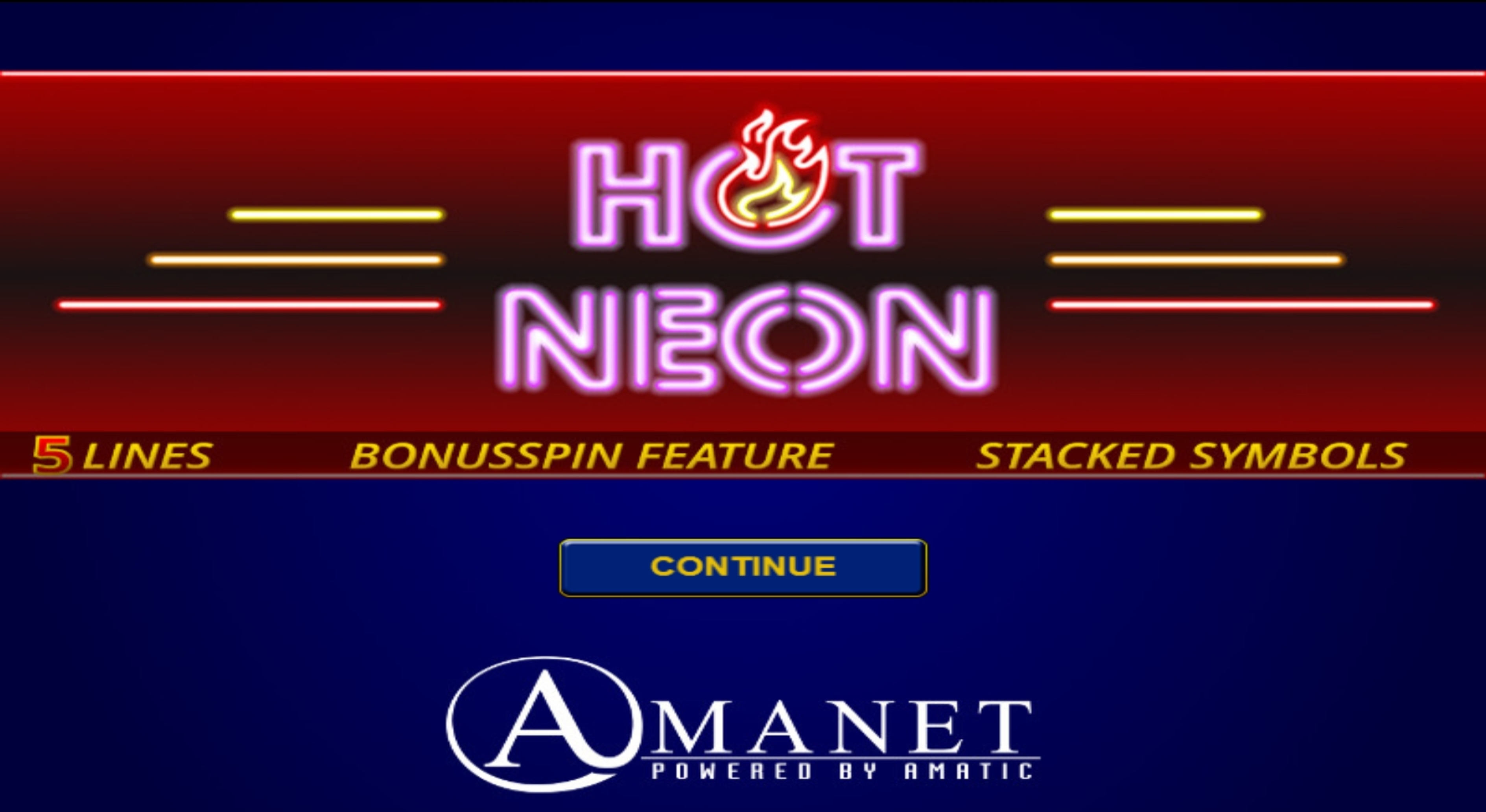 Play Hot Neon Free Casino Slot Game by Amatic Industries