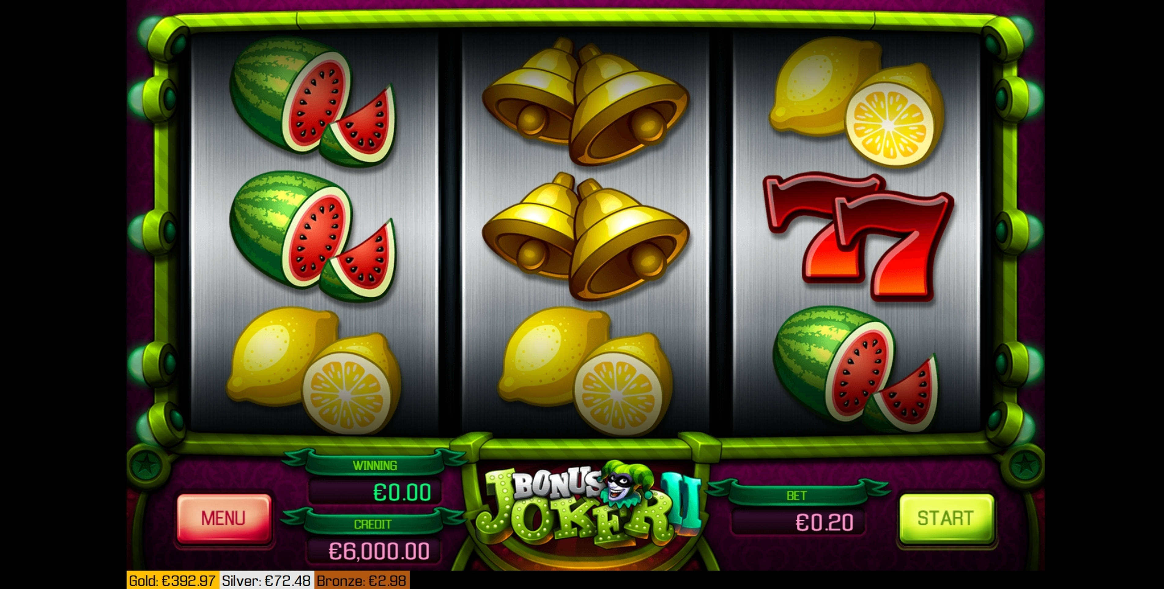 Reels in Bonus Joker 2 Slot Game by Apollo Games