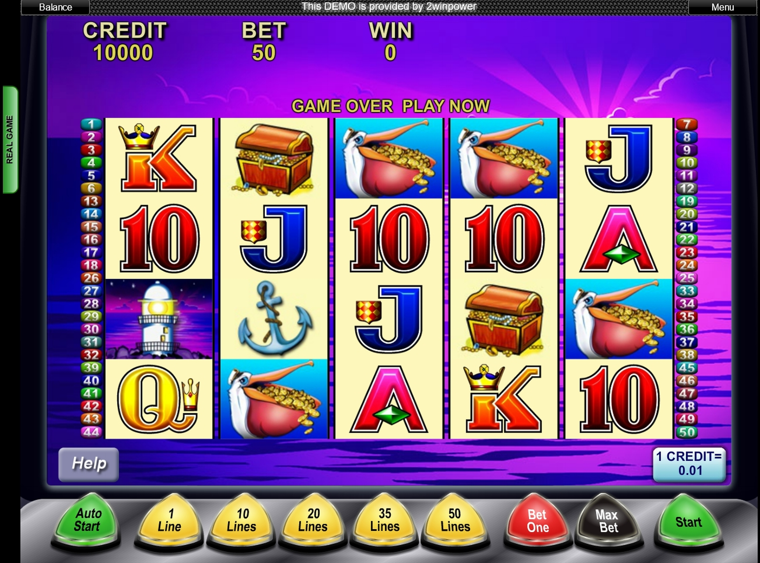 Reels in Pelican Pete Slot Game by Aristocrat