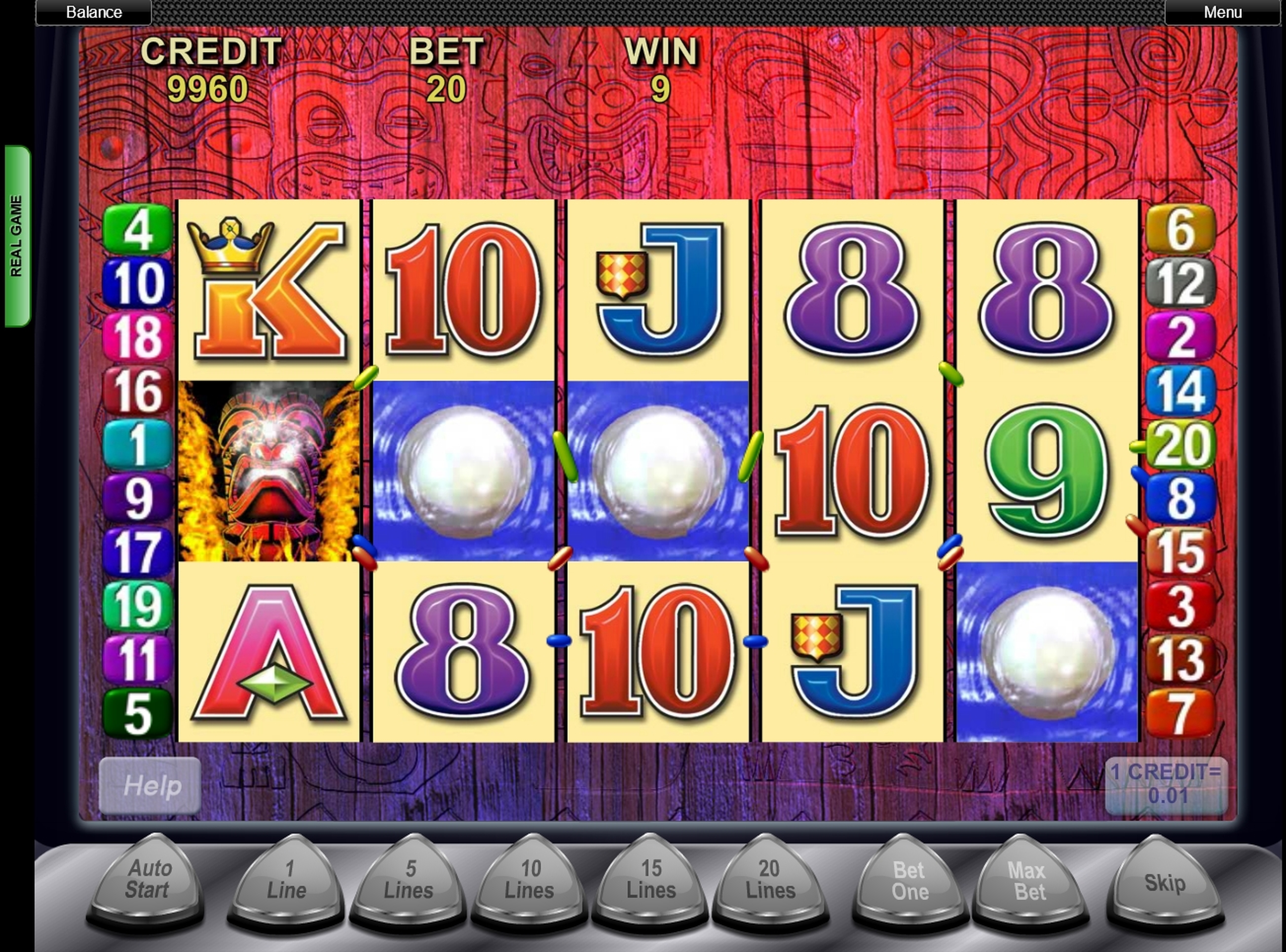 Win Money in Tiki Torch Free Slot Game by Aristocrat