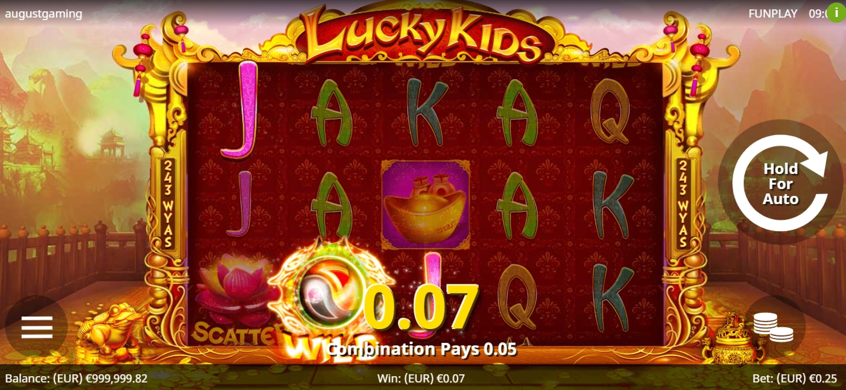 Win Money in Lucky Kids Free Slot Game by August Gaming