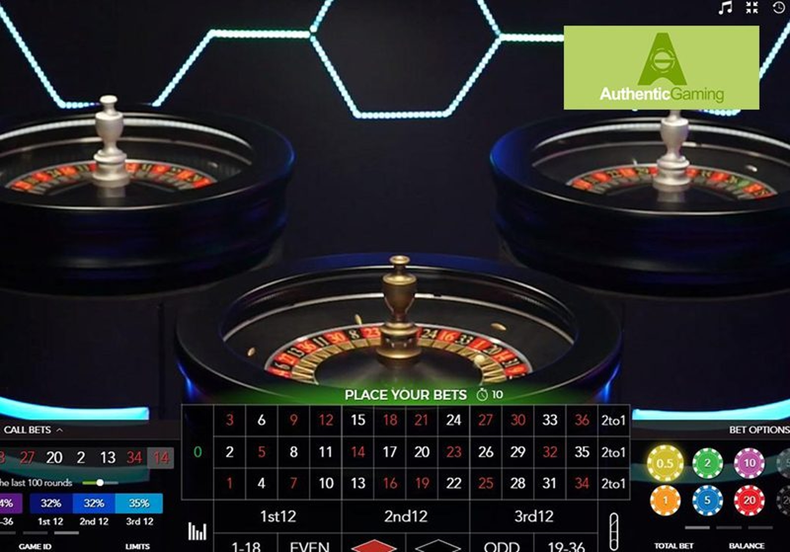 The Duo Live Auto Roulette Online Slot Demo Game by Authentic Gaming