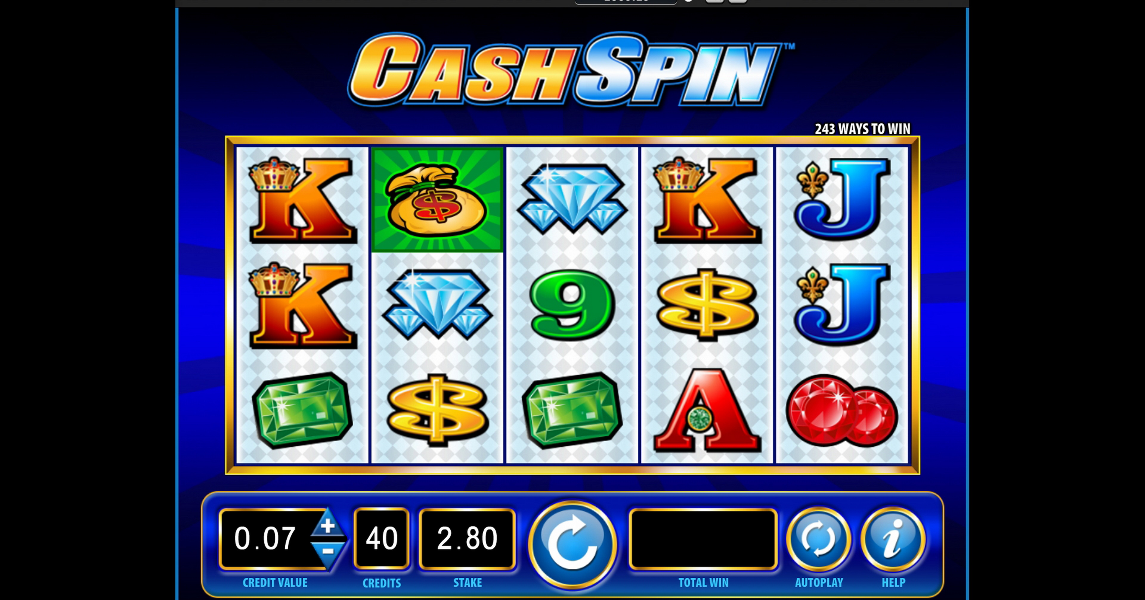 Reels in Cash Spin Slot Game by Bally