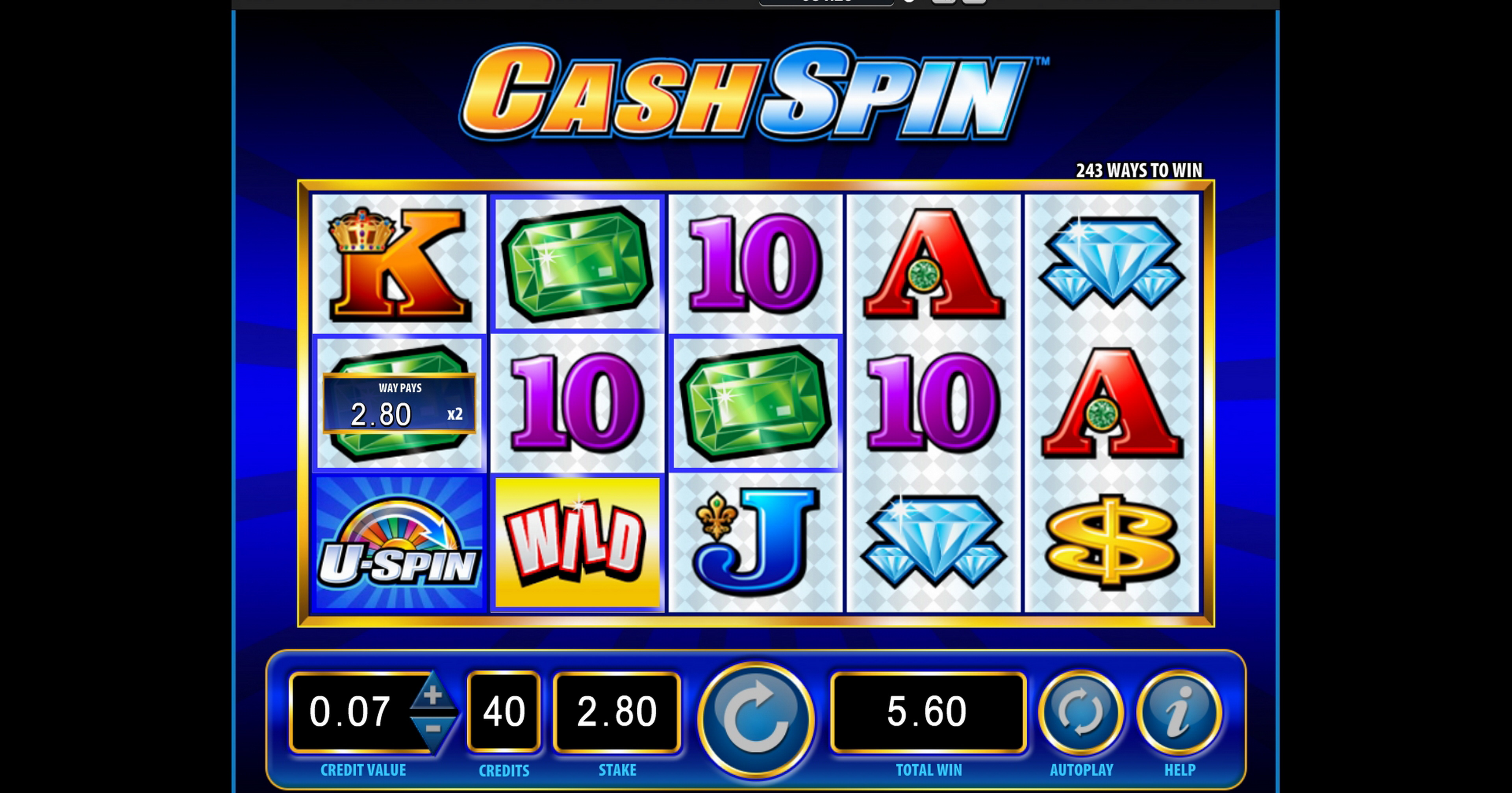 Win Money in Cash Spin Free Slot Game by Bally