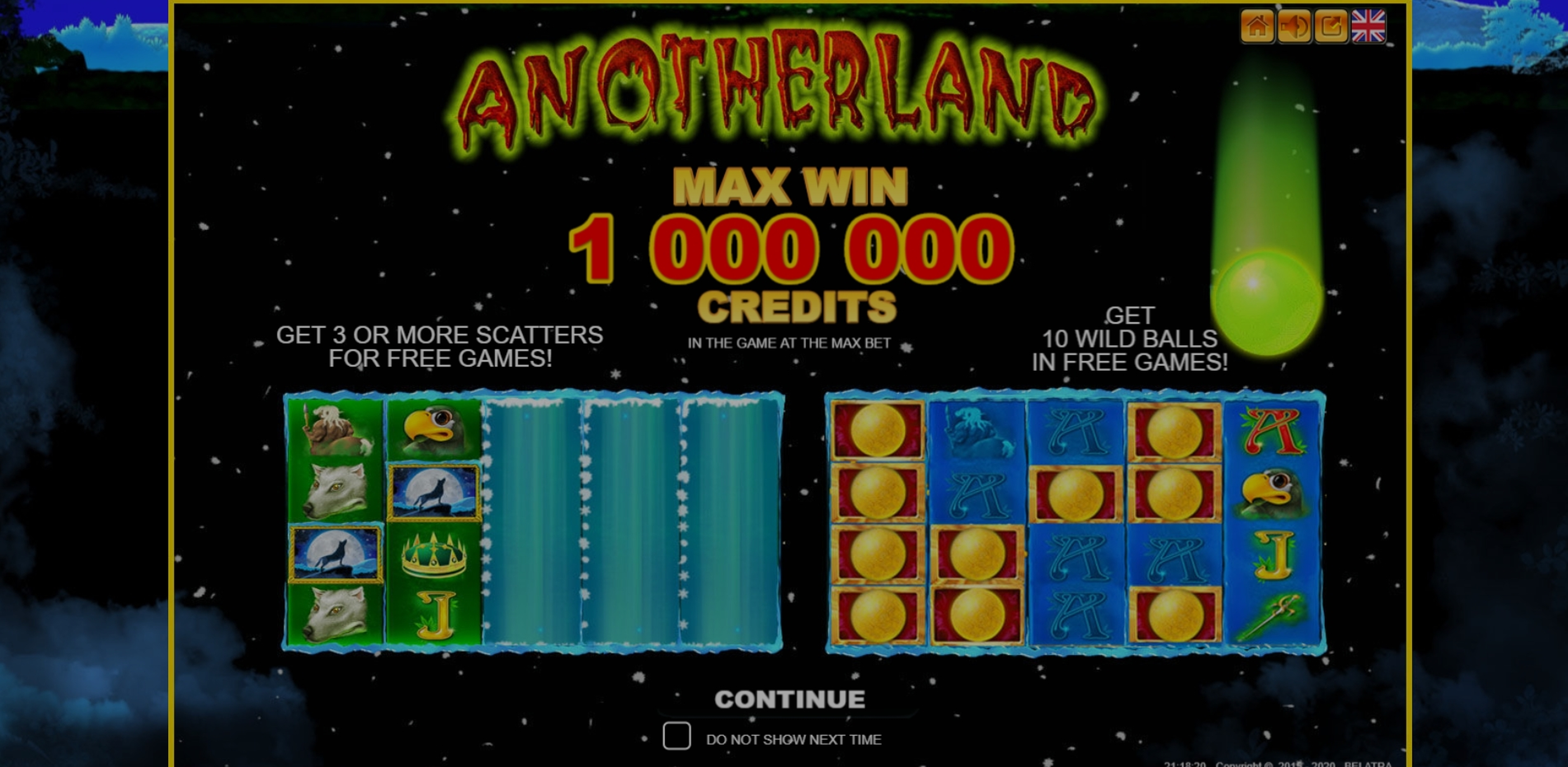 Play Anotherland Luxe Free Casino Slot Game by Belatra Games