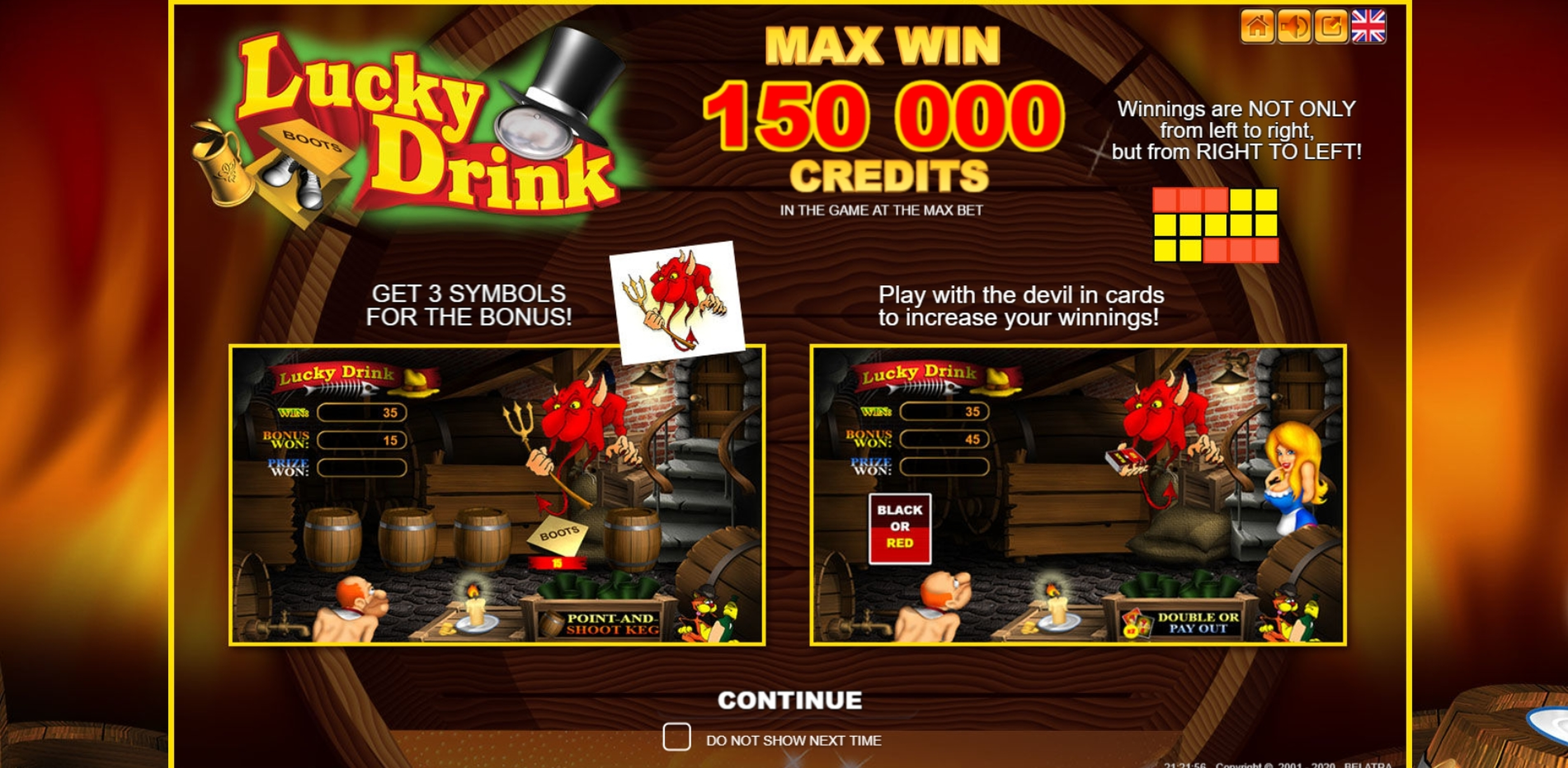 Play Lucky Drink Free Casino Slot Game by Belatra Games