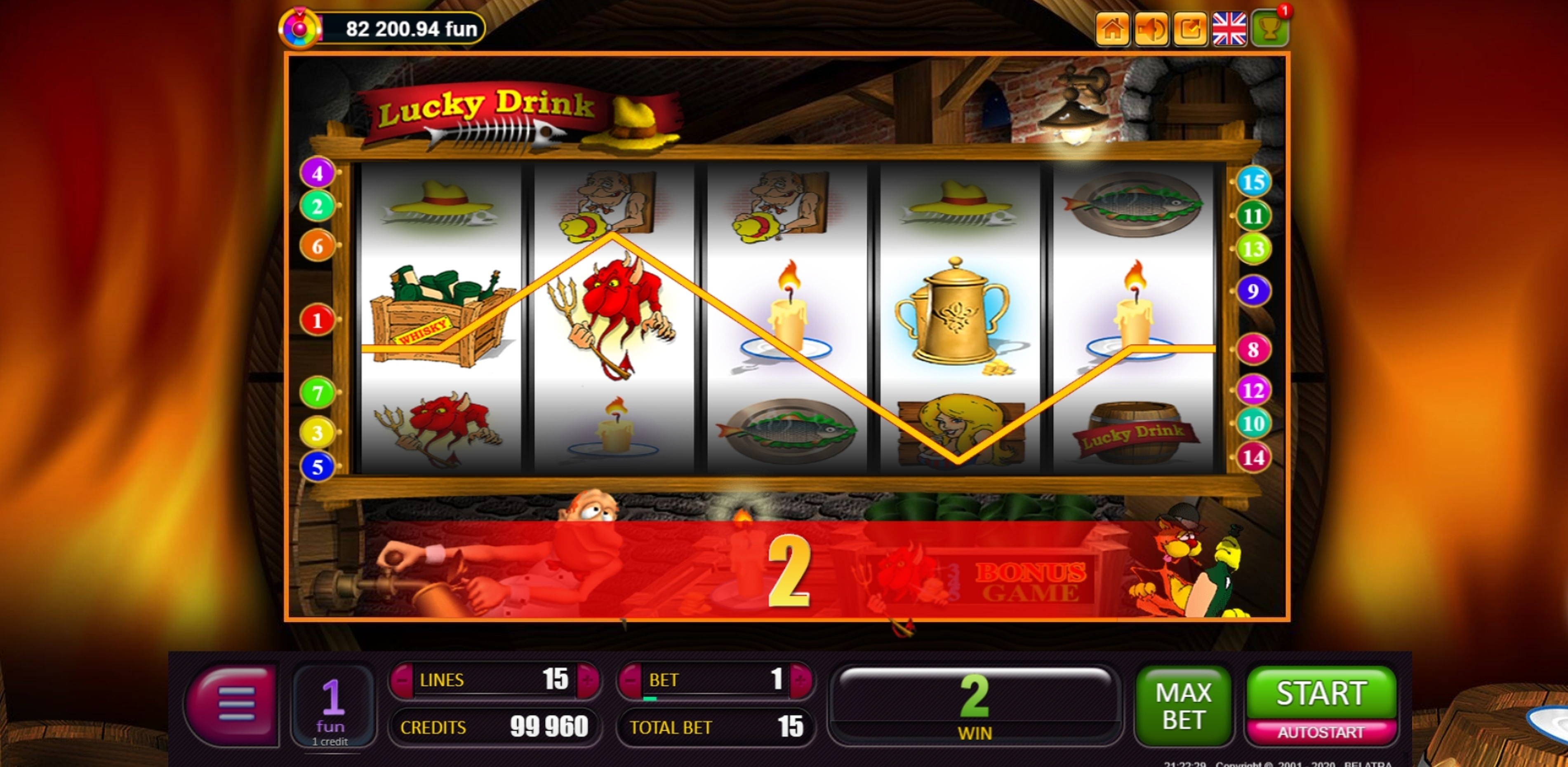 Win Money in Lucky Drink Free Slot Game by Belatra Games