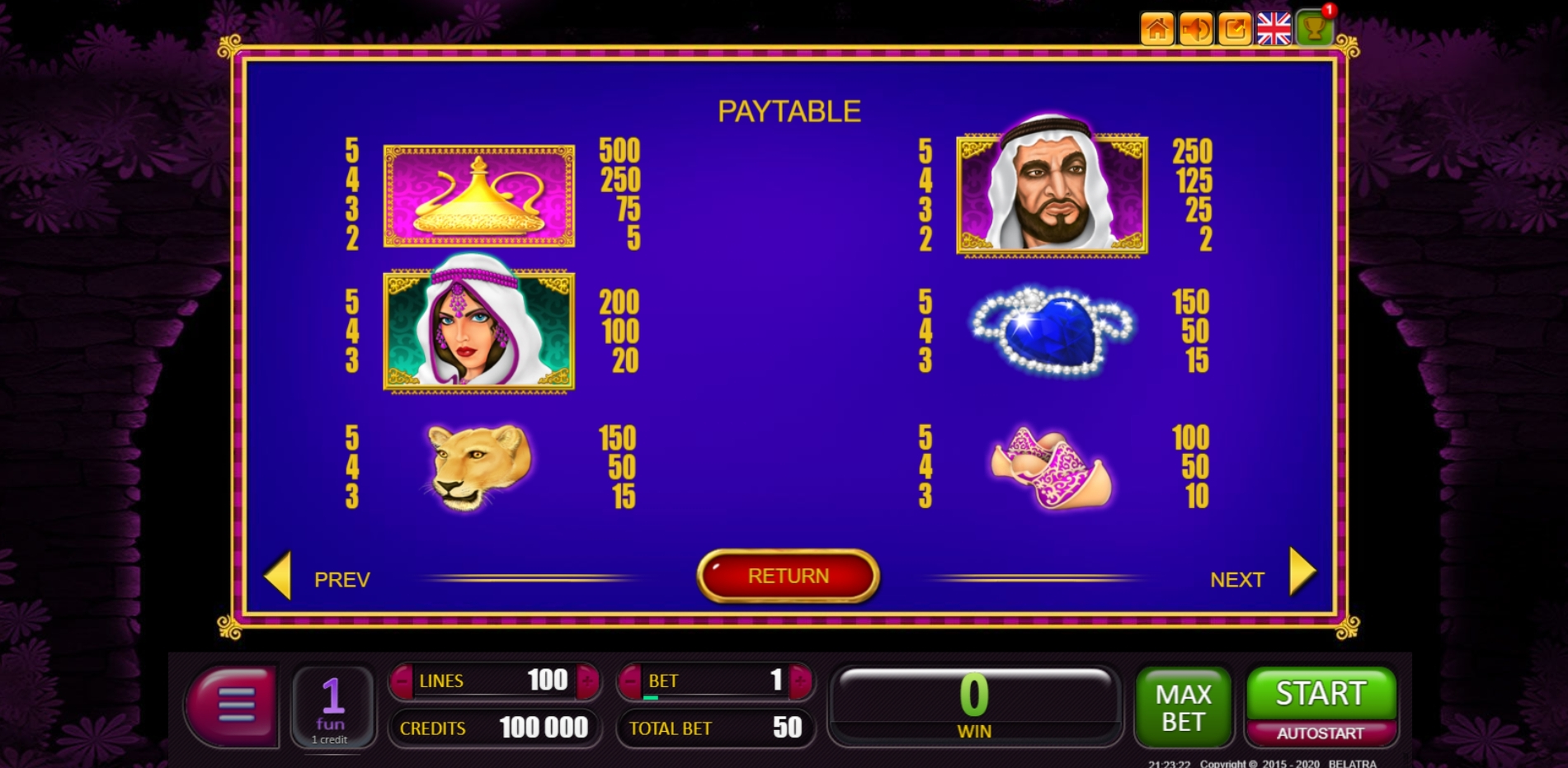 Info of The Moneymania Slot Game by Belatra Games