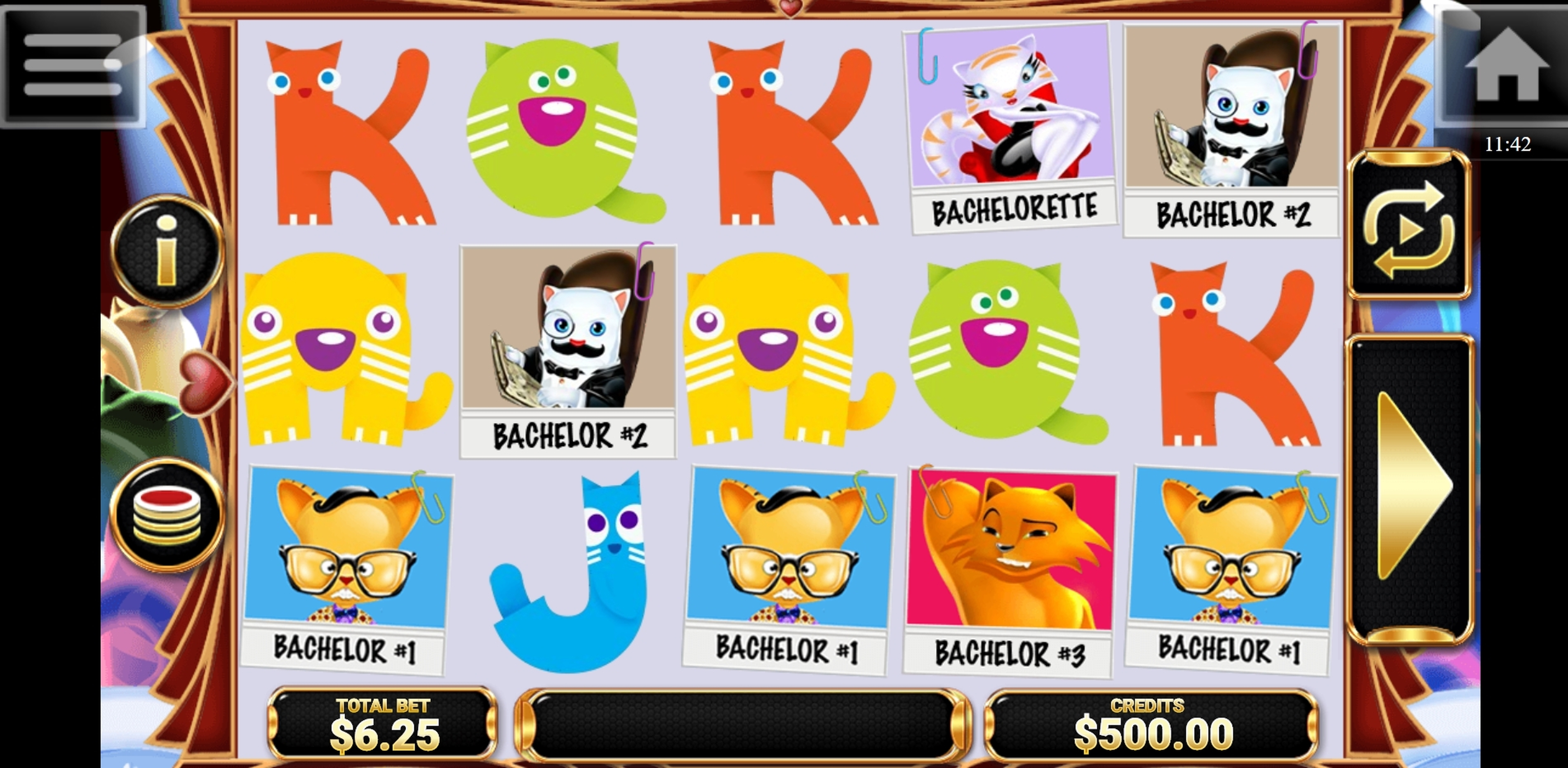 Reels in The Purrfect Match Slot Game by Betconstruct