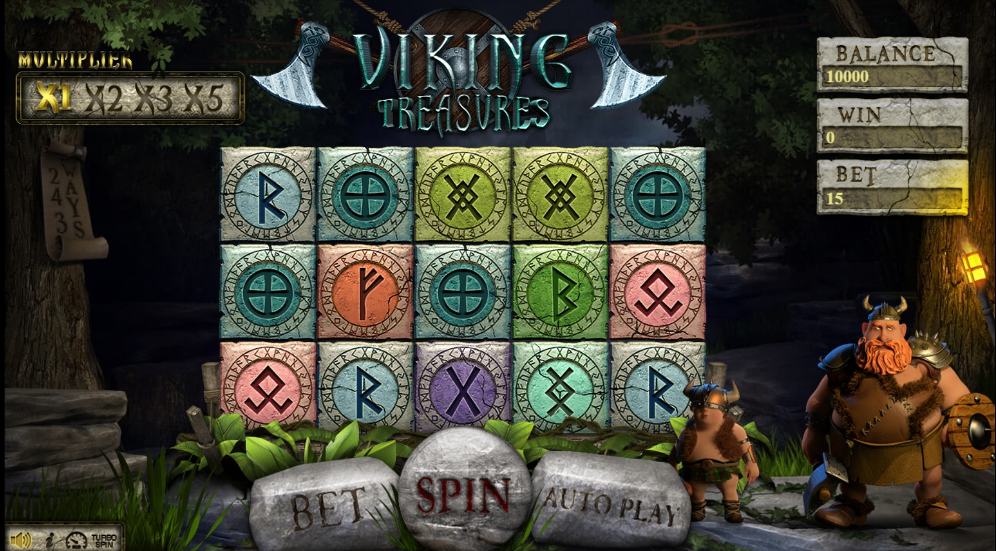 Reels in Viking Treasures (BetConstruct) Slot Game by Betconstruct