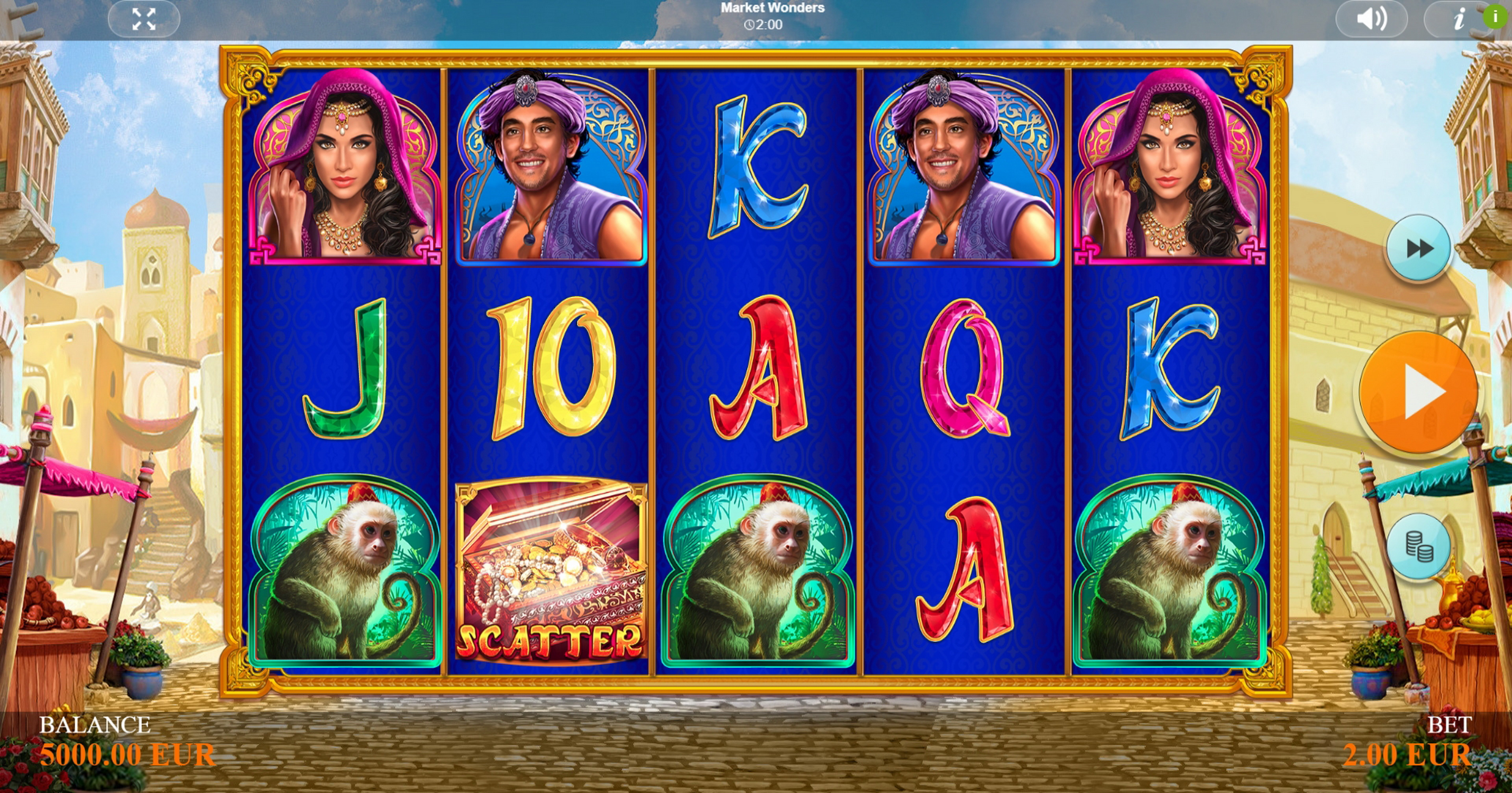 Reels in Market Wonders Slot Game by Betixon