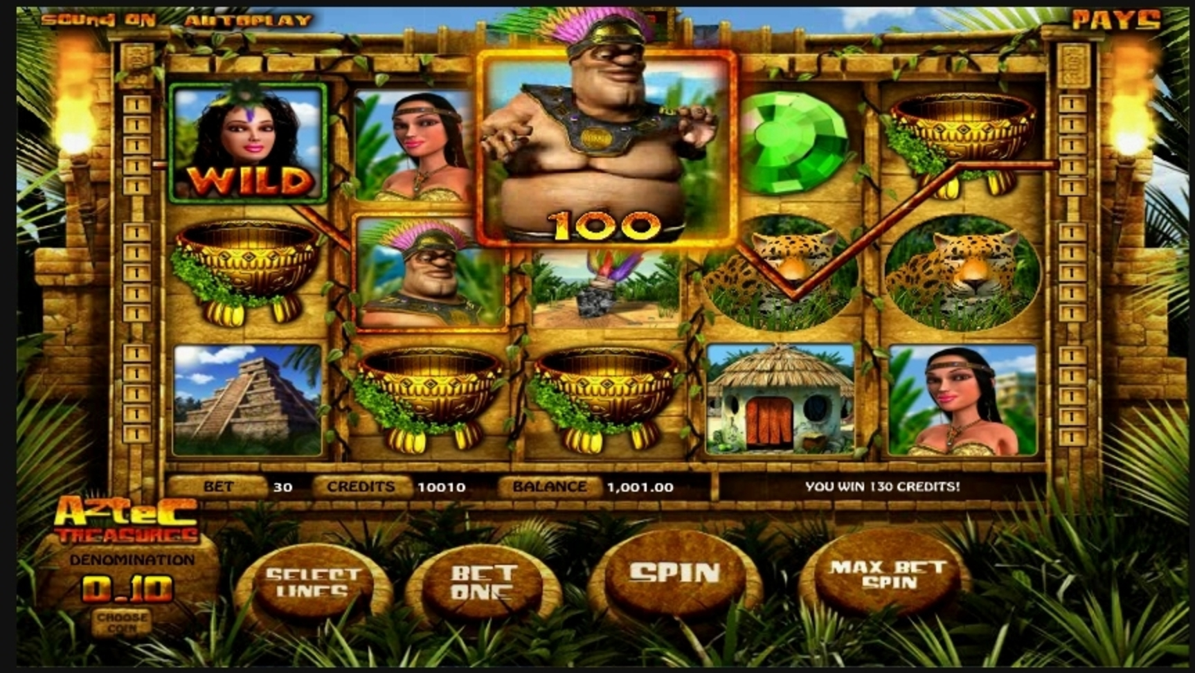 Win Money in Aztec Treasures Free Slot Game by Betsoft