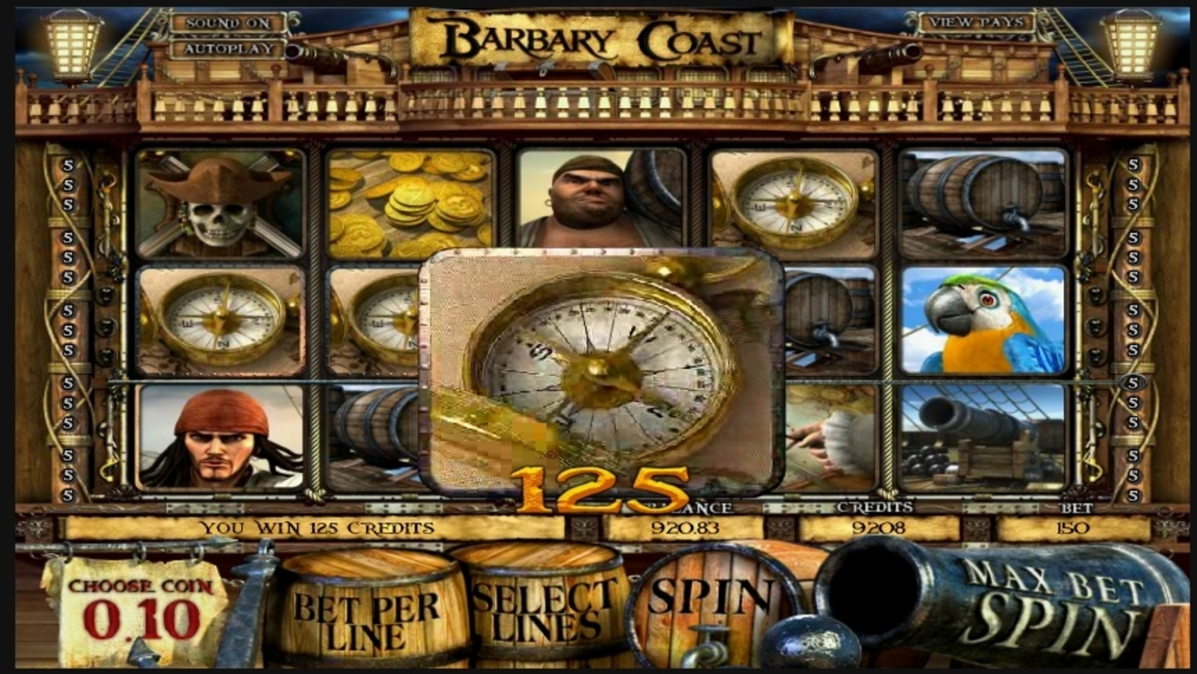 Win Money in Barbary Coast Free Slot Game by Betsoft