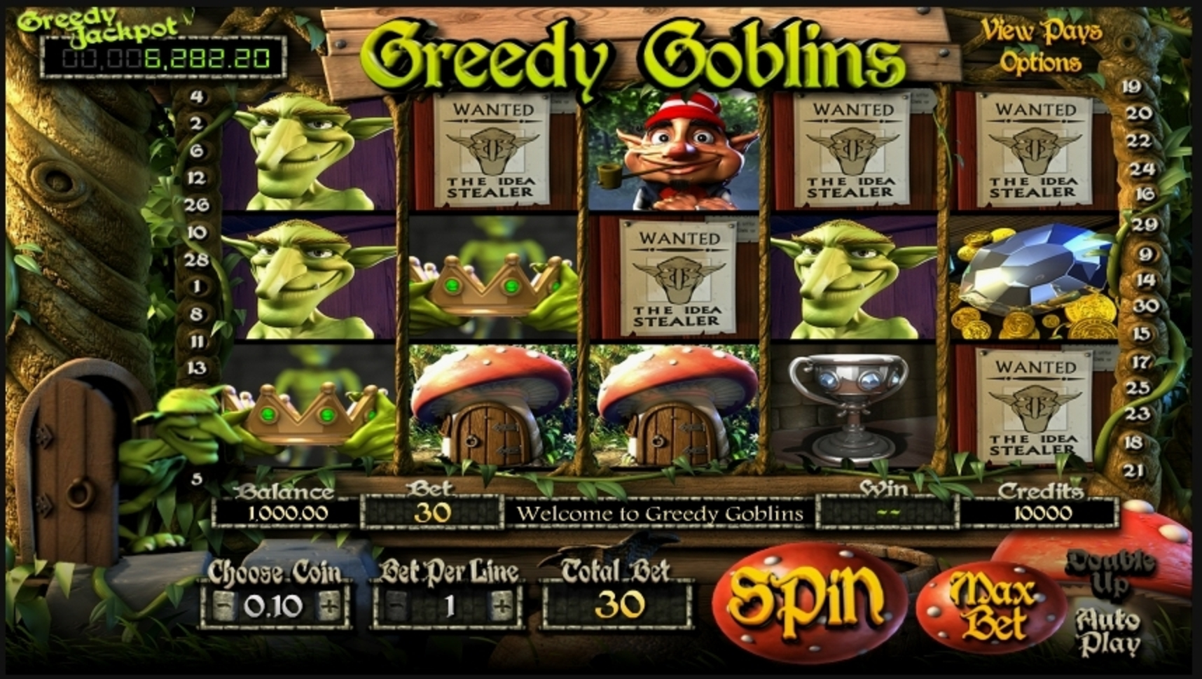 Reels in Greedy Goblins Slot Game by Betsoft