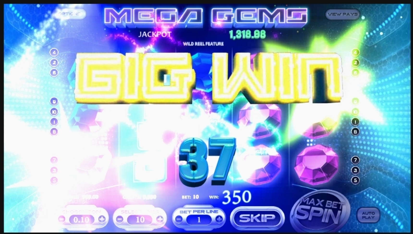 Win Money in Mega Gems Free Slot Game by Betsoft