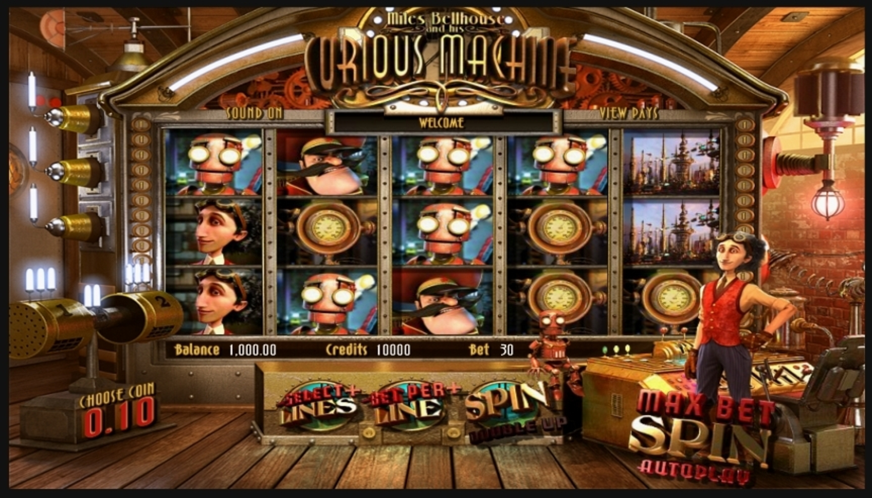 Reels in The Curious Machine Slot Game by Betsoft