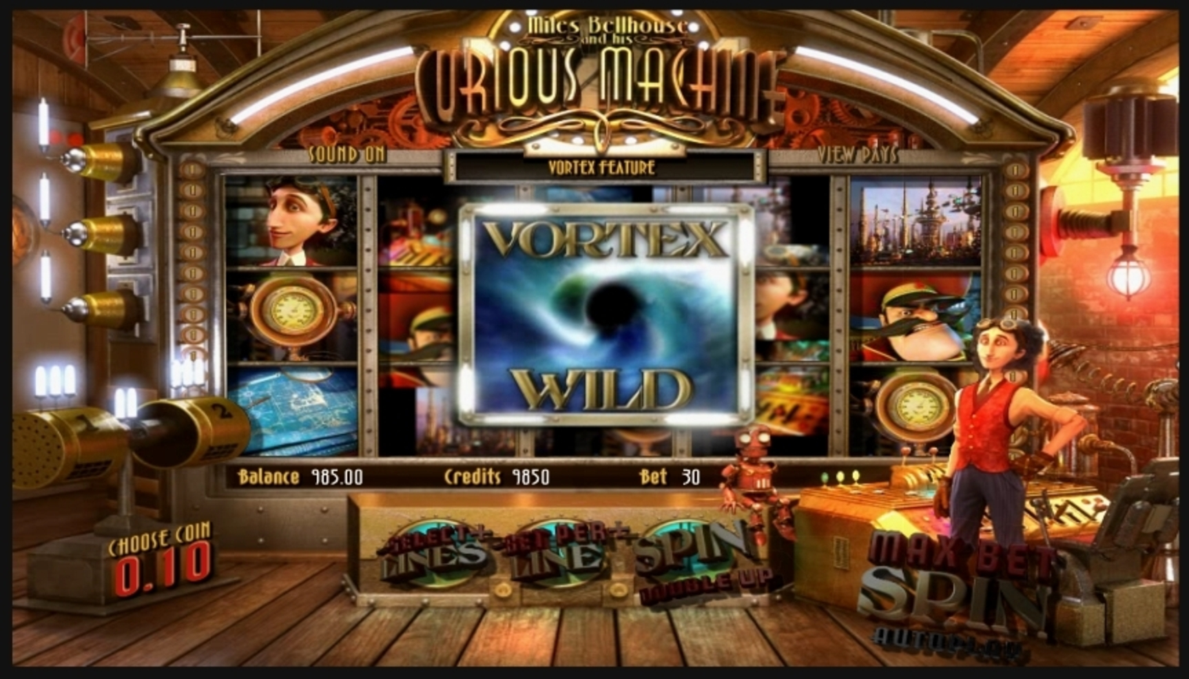 Win Money in The Curious Machine Free Slot Game by Betsoft