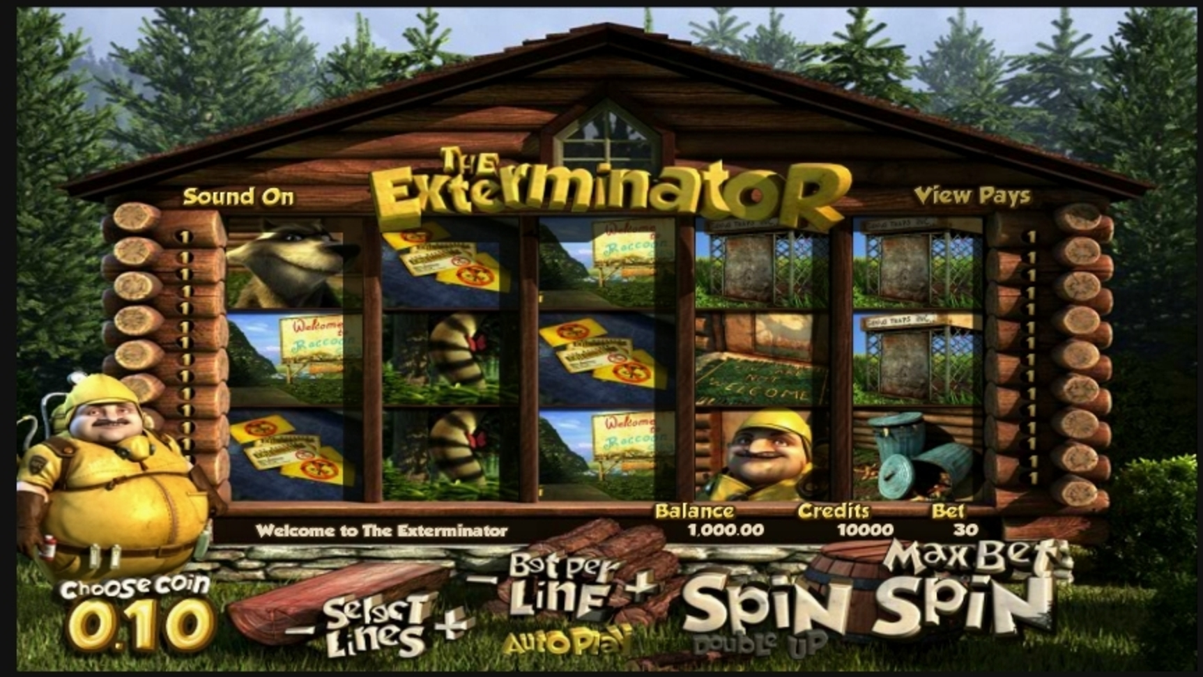 Reels in The Exterminator Slot Game by Betsoft
