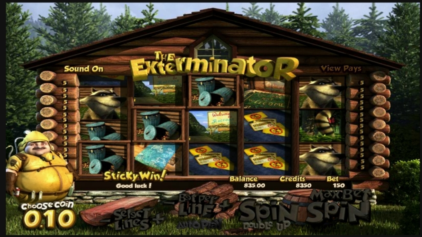 Win Money in The Exterminator Free Slot Game by Betsoft