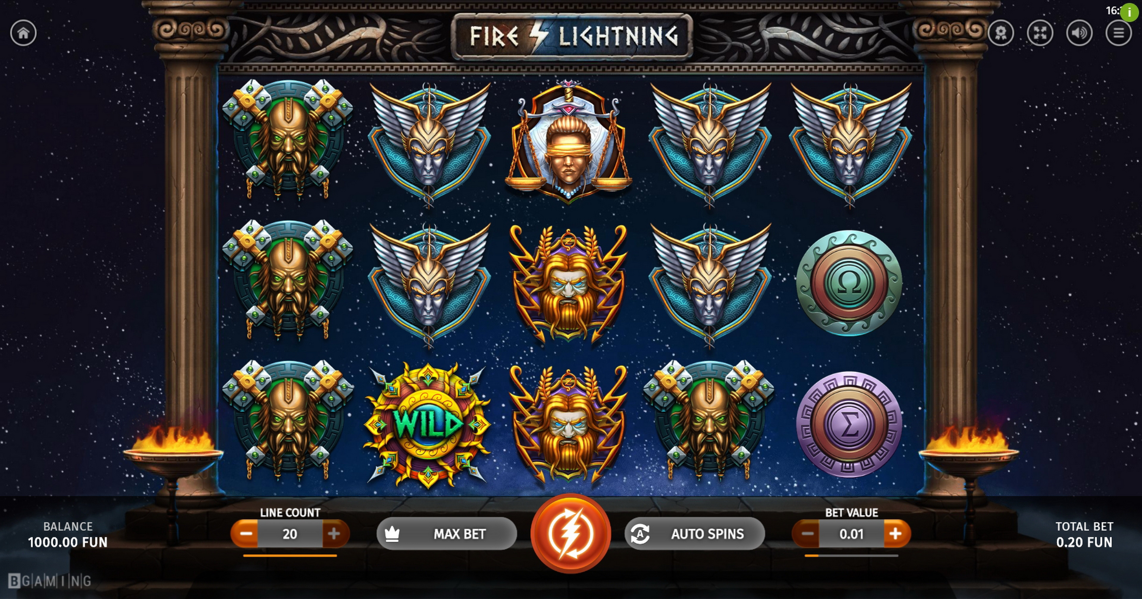 Reels in Fire Lightning Slot Game by BGAMING