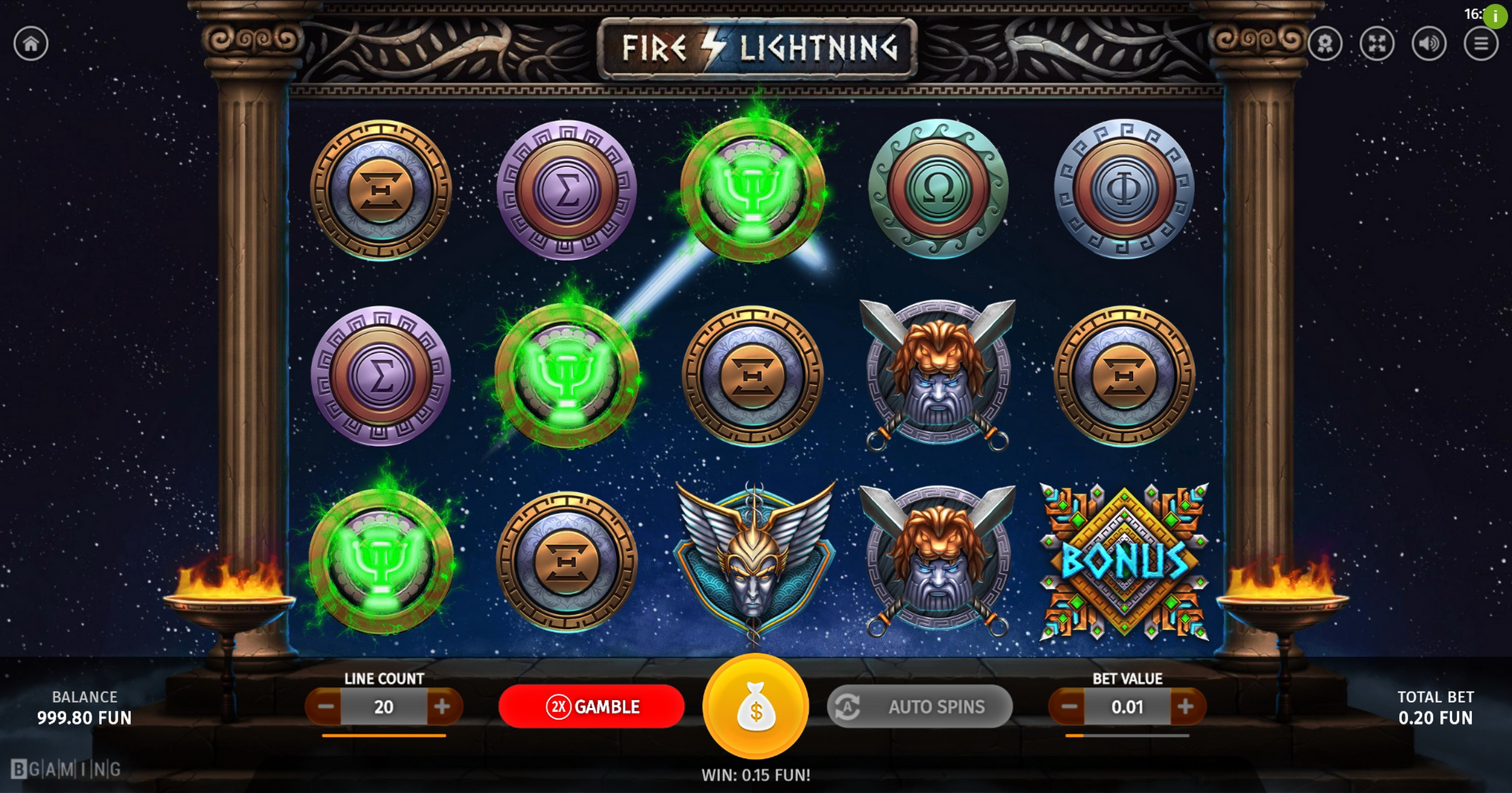 Win Money in Fire Lightning Free Slot Game by BGAMING