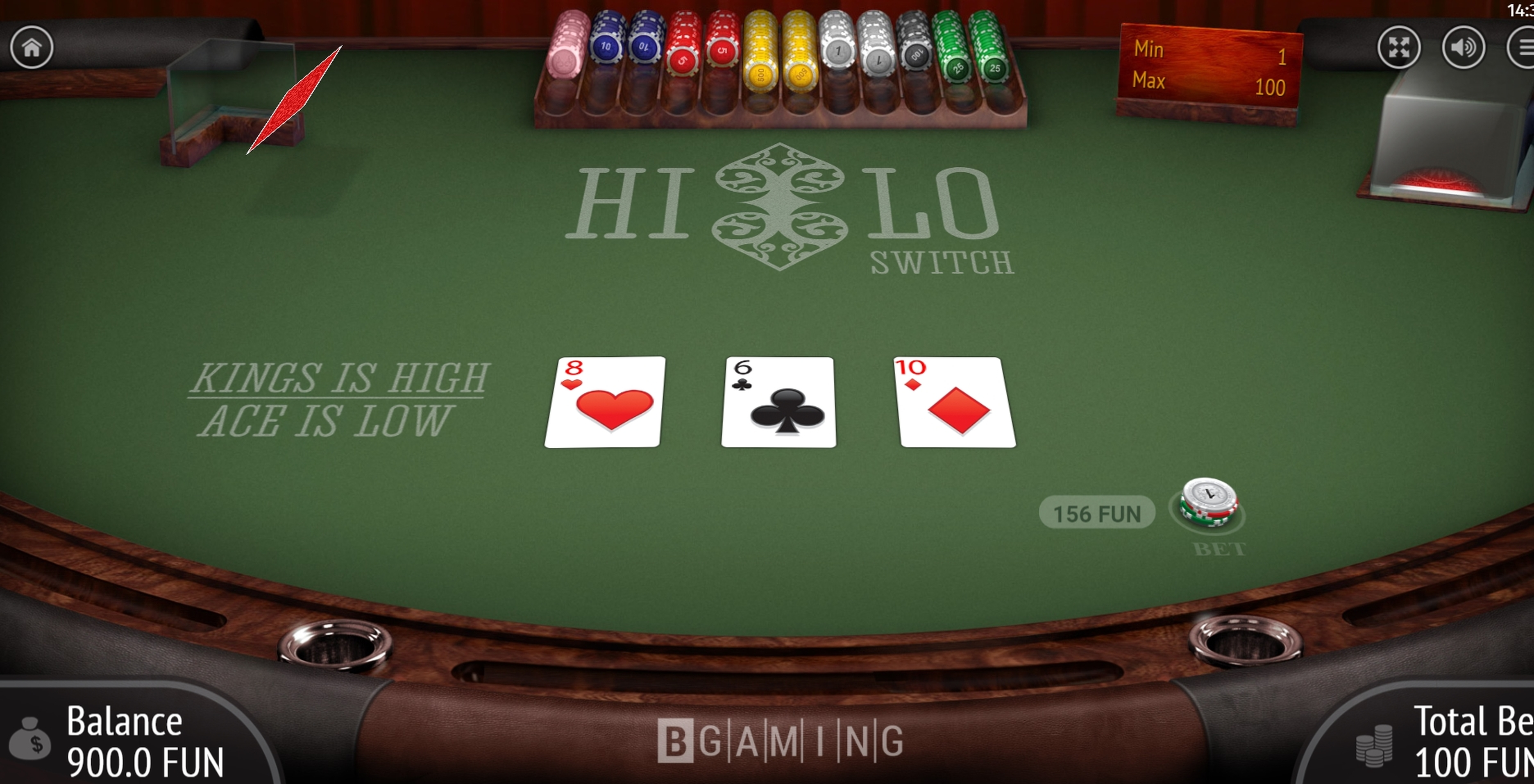 Win Money in Hi Lo Switch Free Slot Game by BGAMING