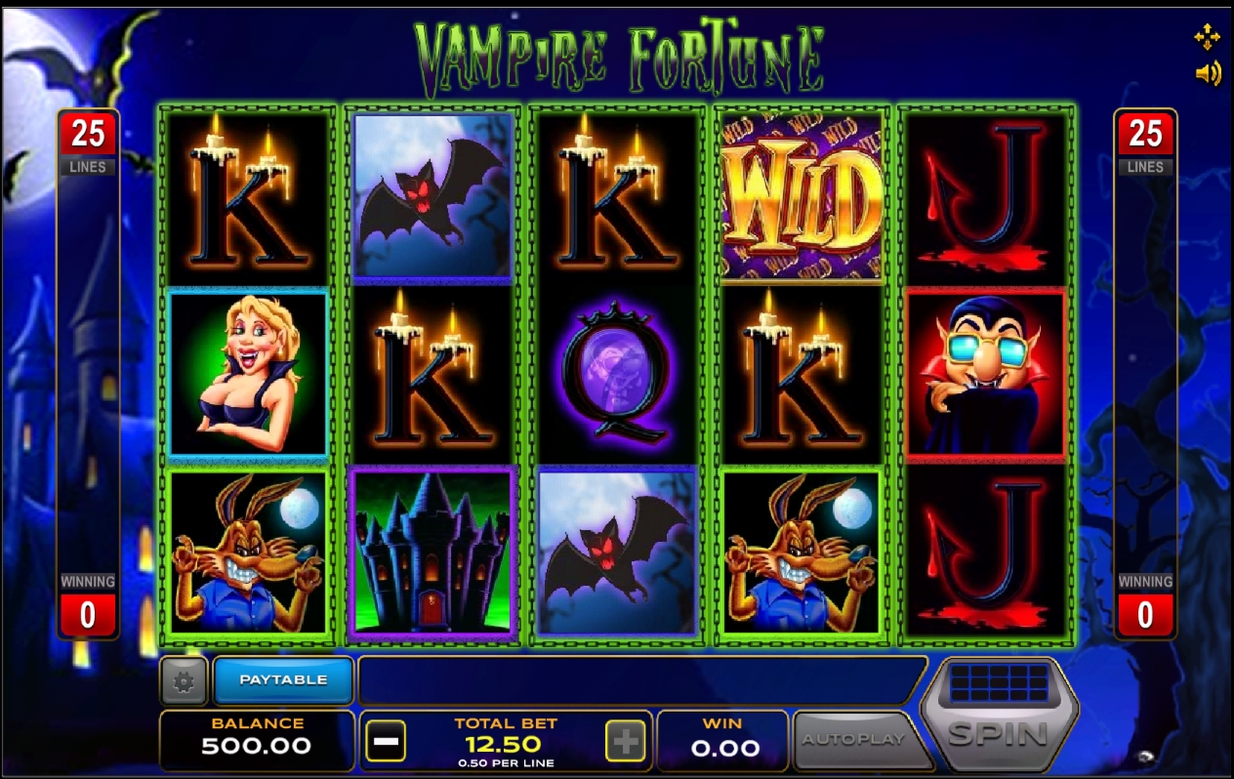 Reels in Vampire Fortune Slot Game by Xplosive Slots Group